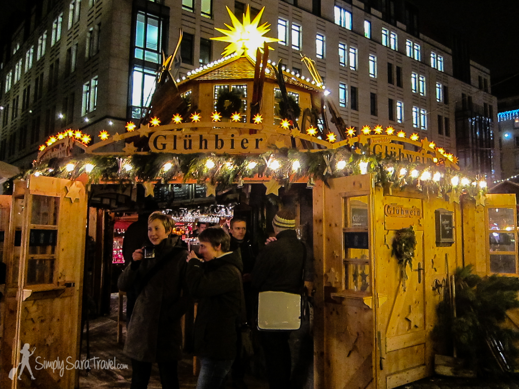 This temporary bar at the Dresden Christmas Market was a great find - seating and a barrier from the cold!