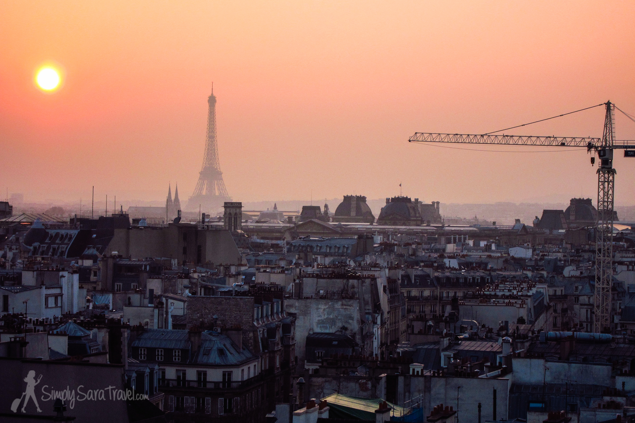 The Centre Pompidou is among my favorite museums in Paris, and one thing I love about it is running up to the top floor in time to see a sunset. I included another sunset from the same view in my  2013 best-of compilation  - so which one should make the wall?