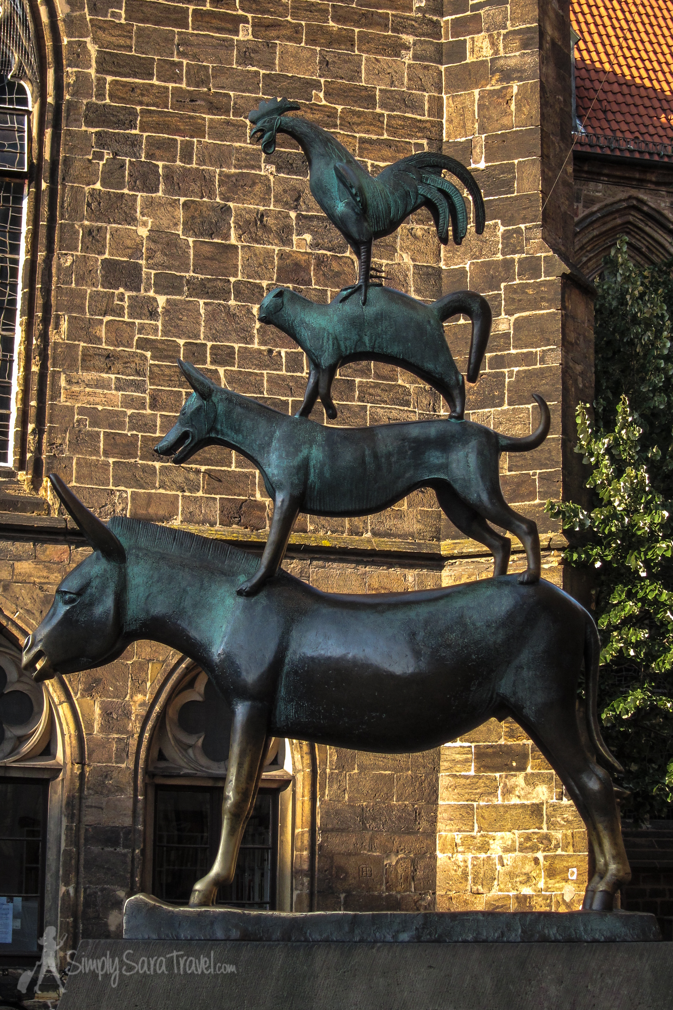 The statue of the Town Musicians of Bremen