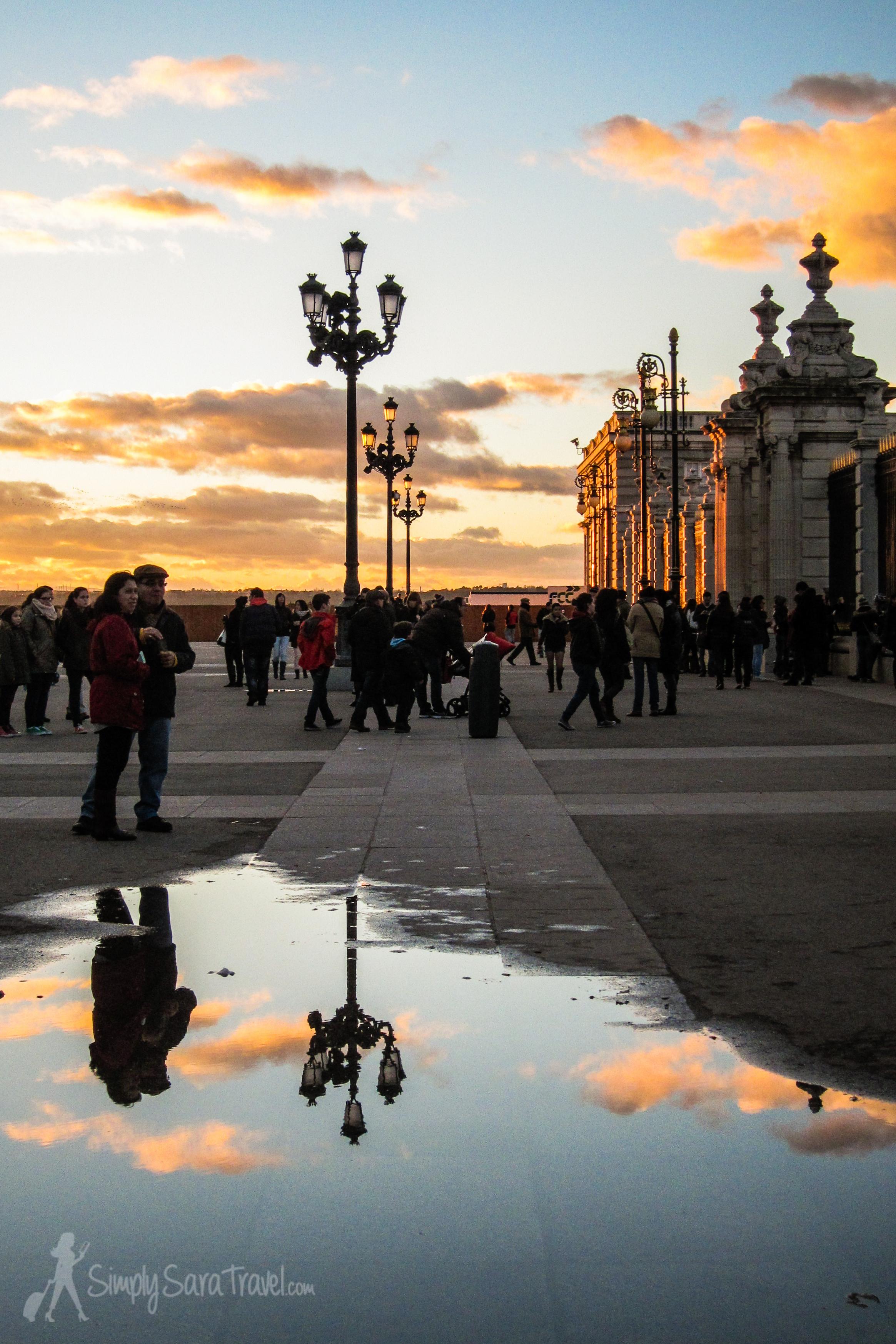 Sunset at the Palacio Real de Madrid (Royal Palace of Madrid)