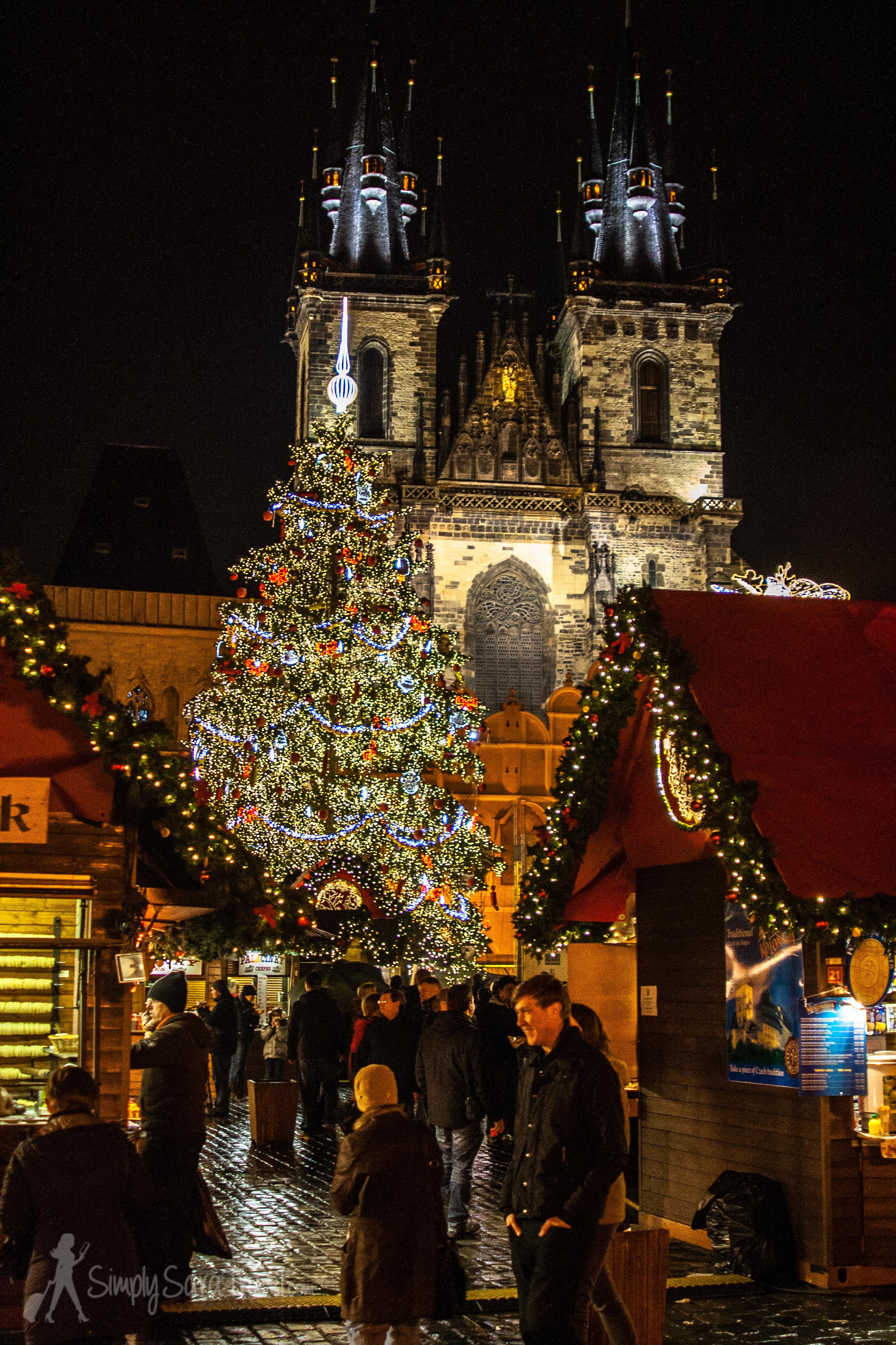 Prague wearing its Christmas best inStaroměstské náměstí (Old Town Square)