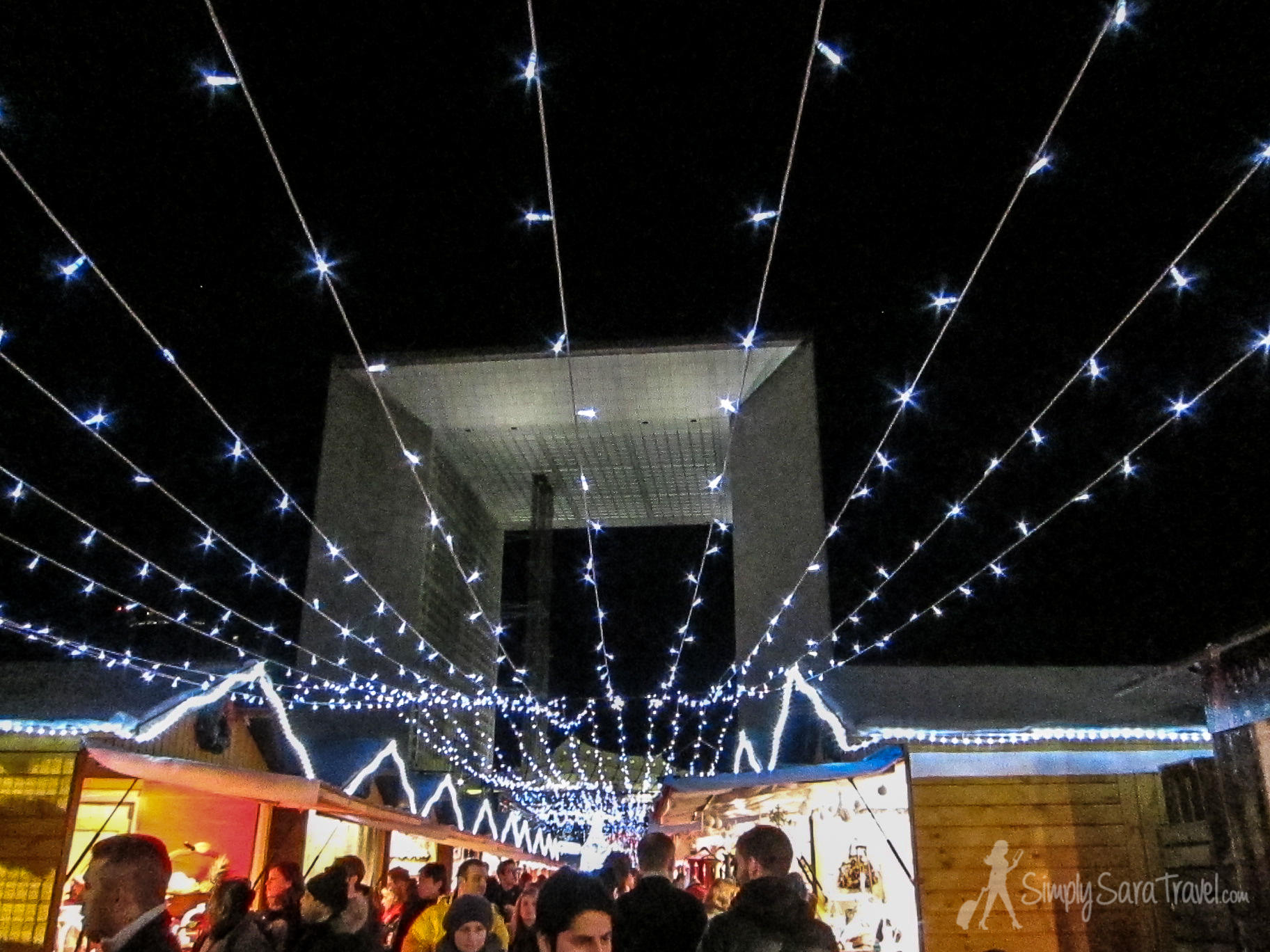 The best Christmas market in Paris is to the west at La Defense.