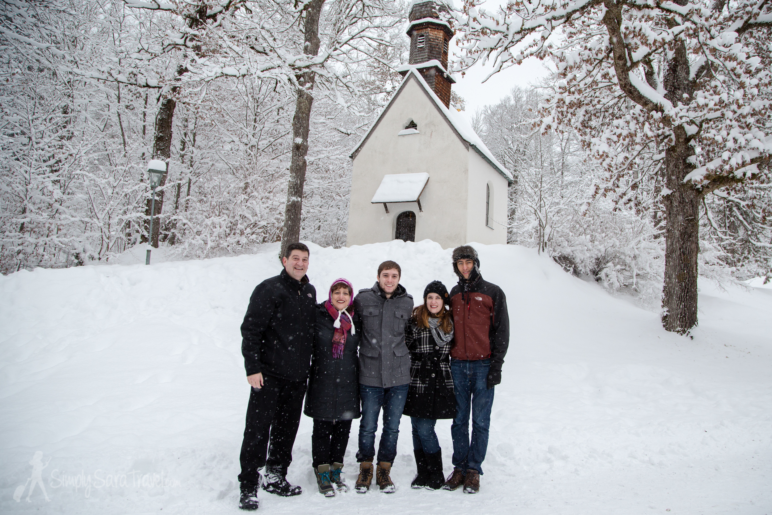 After two Christmases without my family, it was so fun to be reunited for the holidays together! Seefeld was a great home base for our festivities, and our rental car allowed us to see more of the area, like the Linderhof Palace in Germany (where we are pictured on the grounds of).
