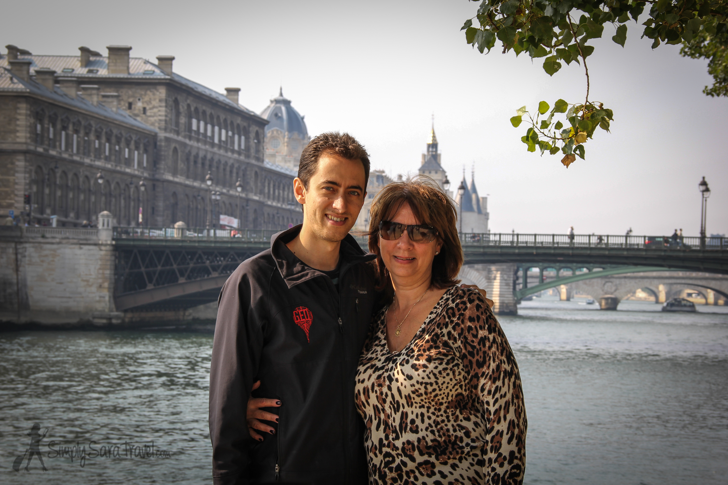 Michael and his beautiful Momma | The weather cooperated in mid-September when Michael's parents visited so we were able to show them one of our favorite activitiesin Paris: going on a picnic.
