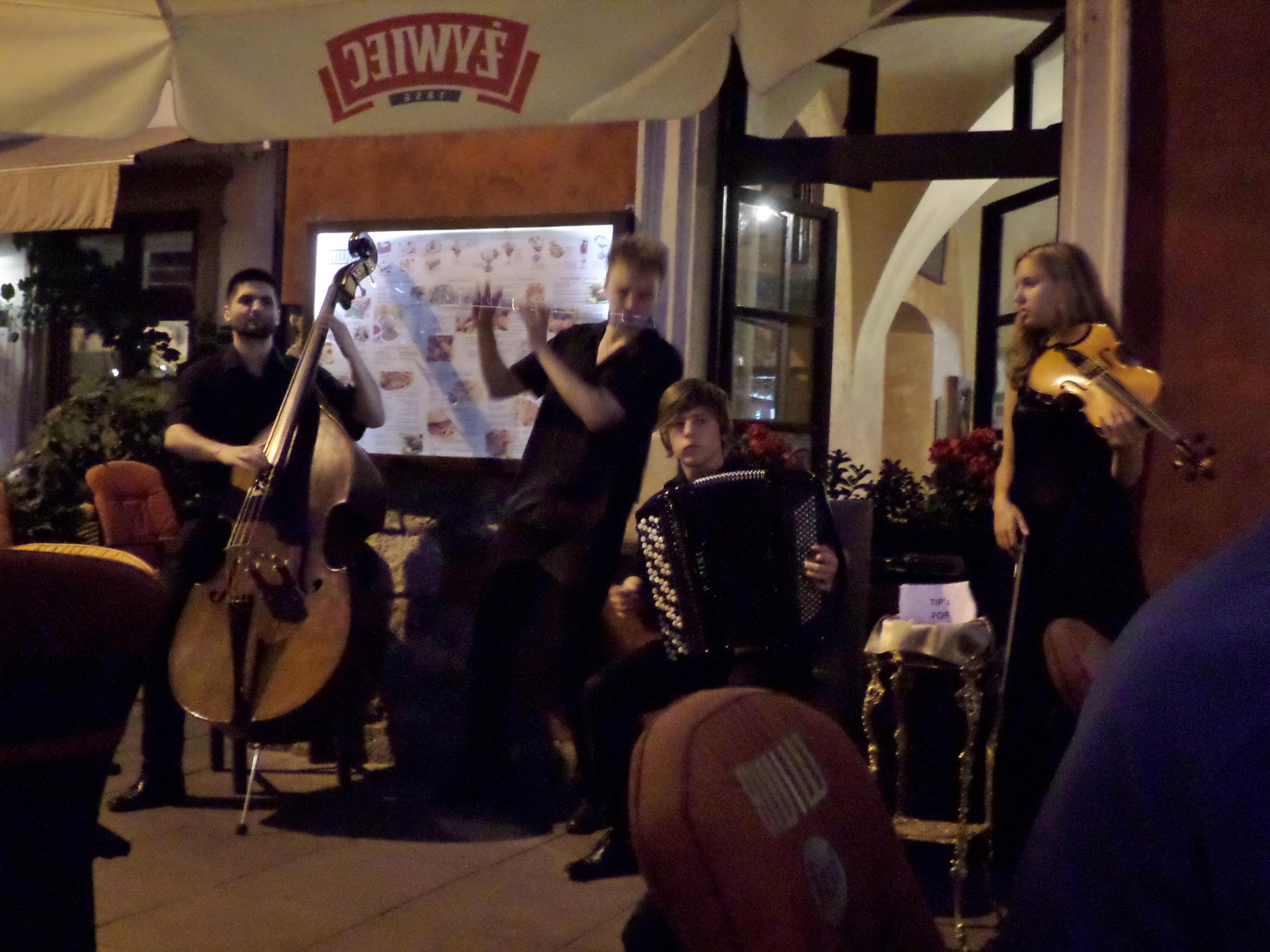 Musicians in Kazimierz, Krakow