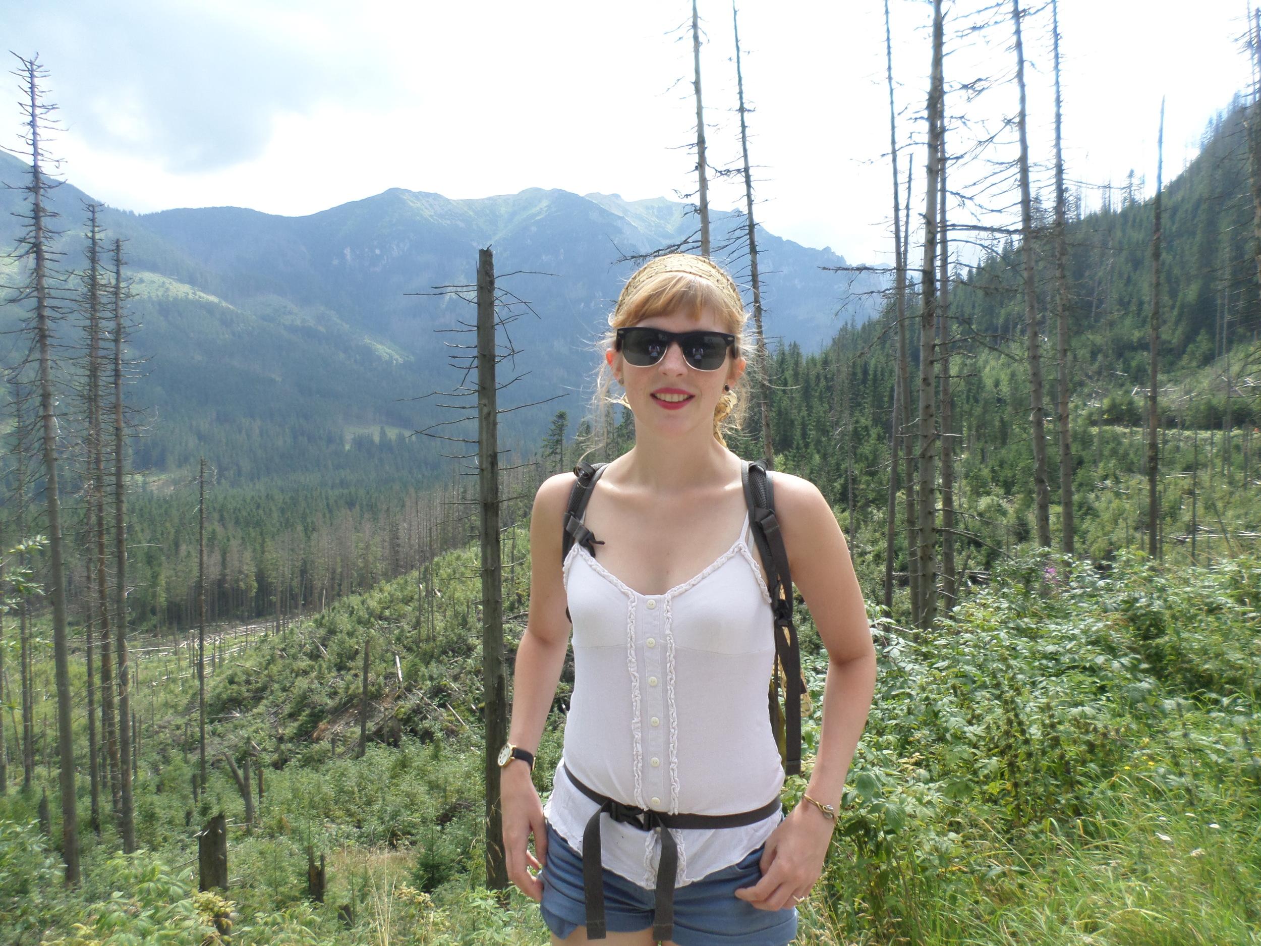Cynthia hiking in Zakopane, Poland