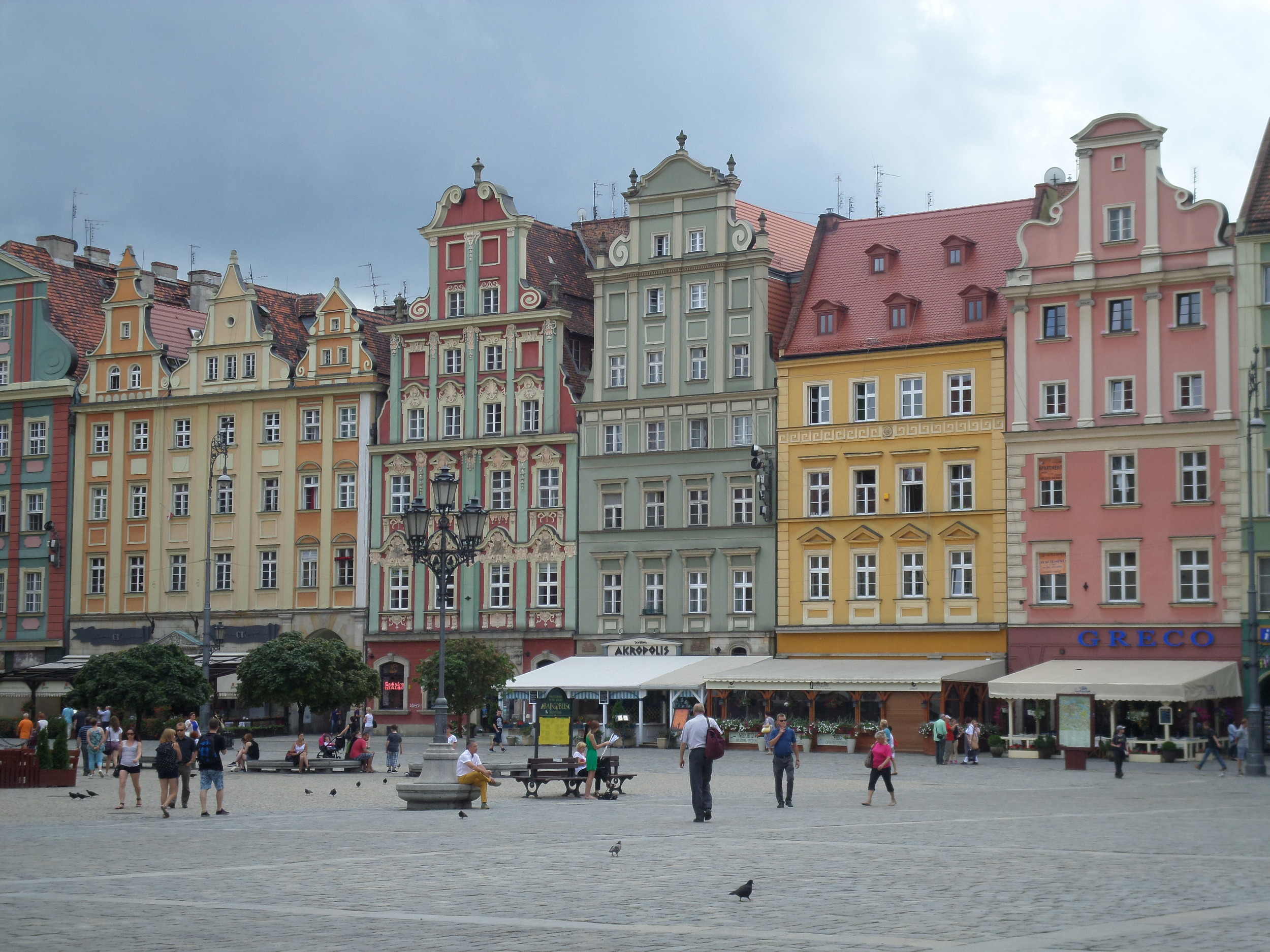 Colorful buildings in Poland