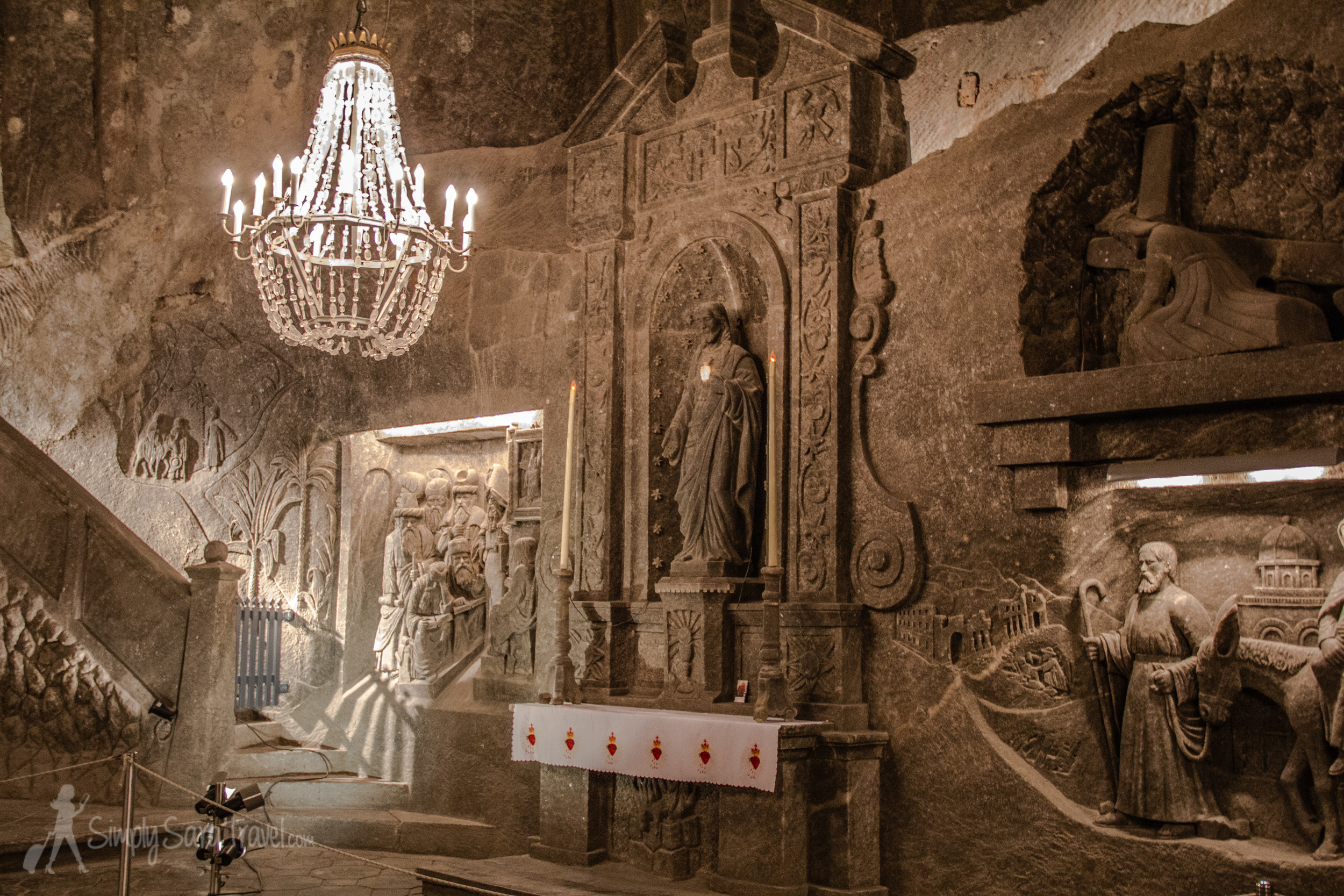 Details inSt. Kinga's Chapel,Wieliczka Salt Mine, Poland