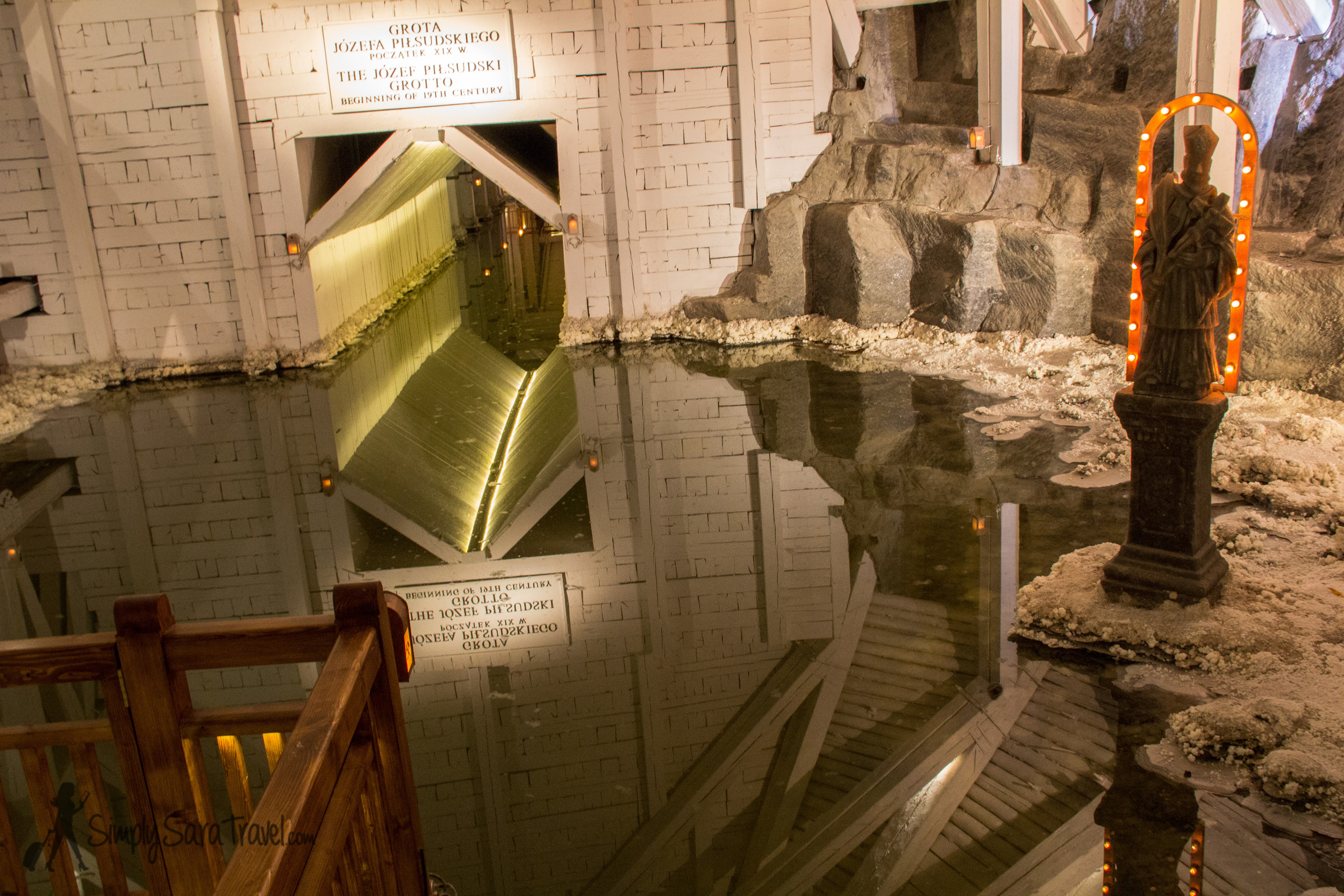 One of the lakes in theWieliczka Salt Mine