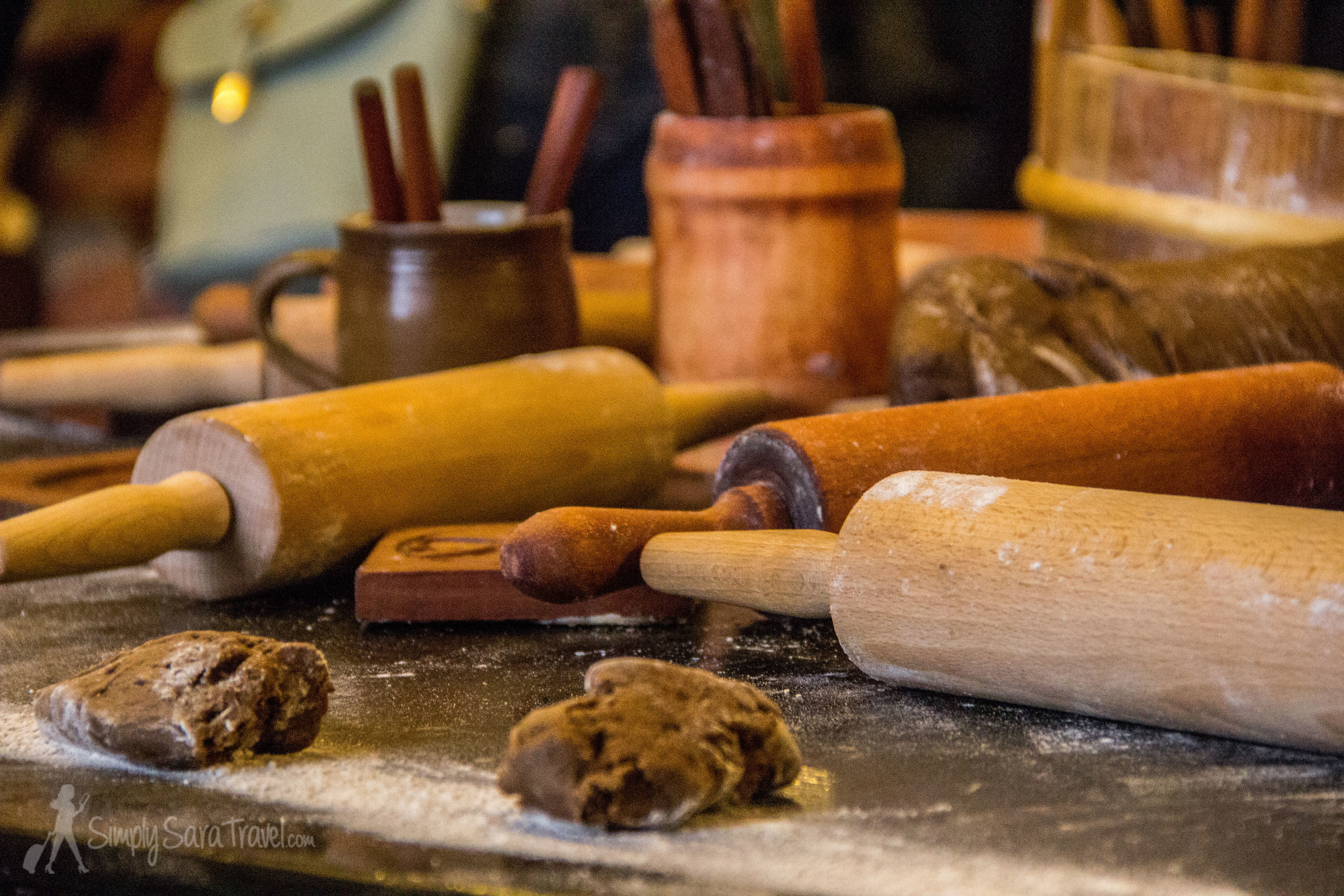 Rolling pins at the Gingerbread Museum