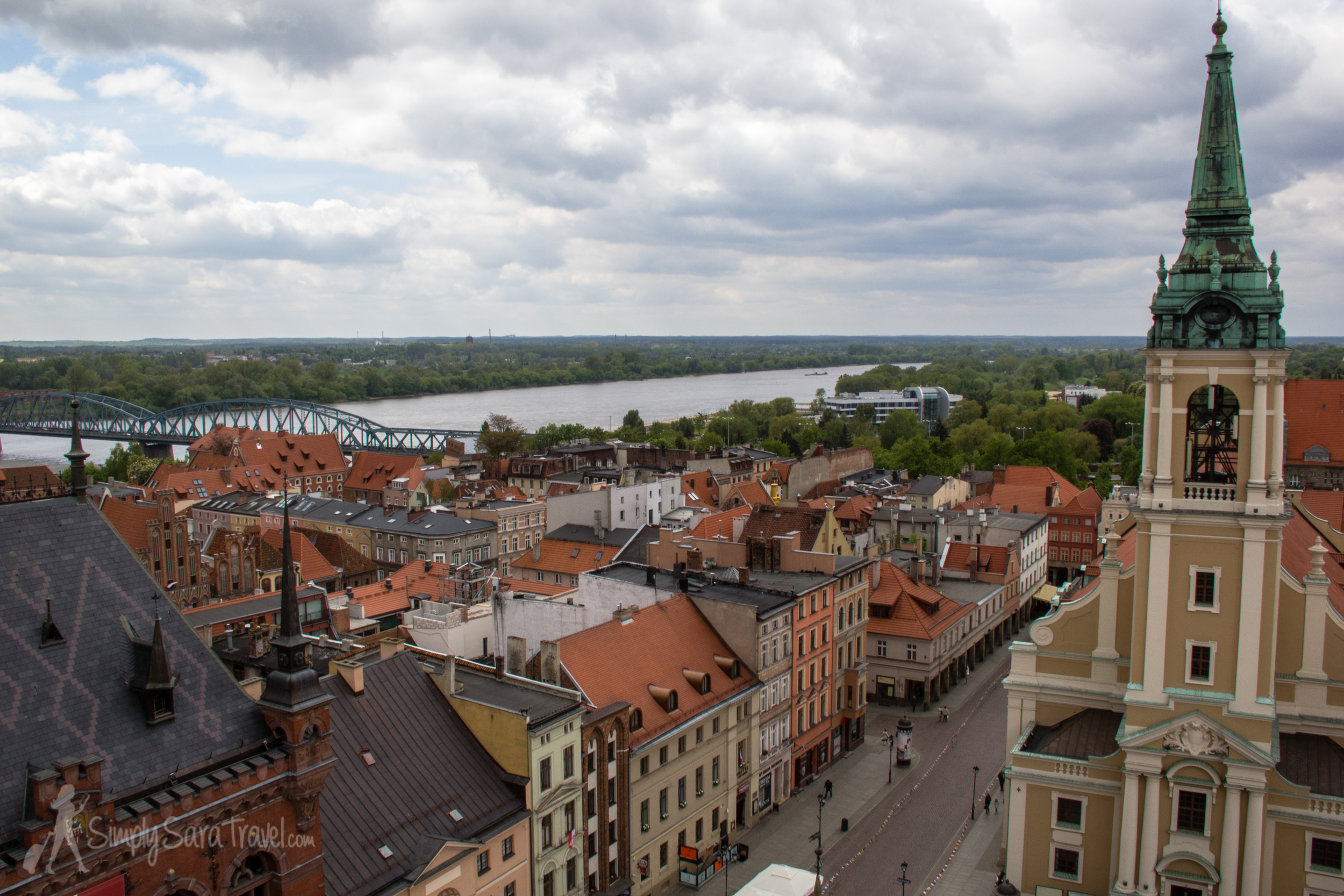 From above you can get a good view of theVistula River