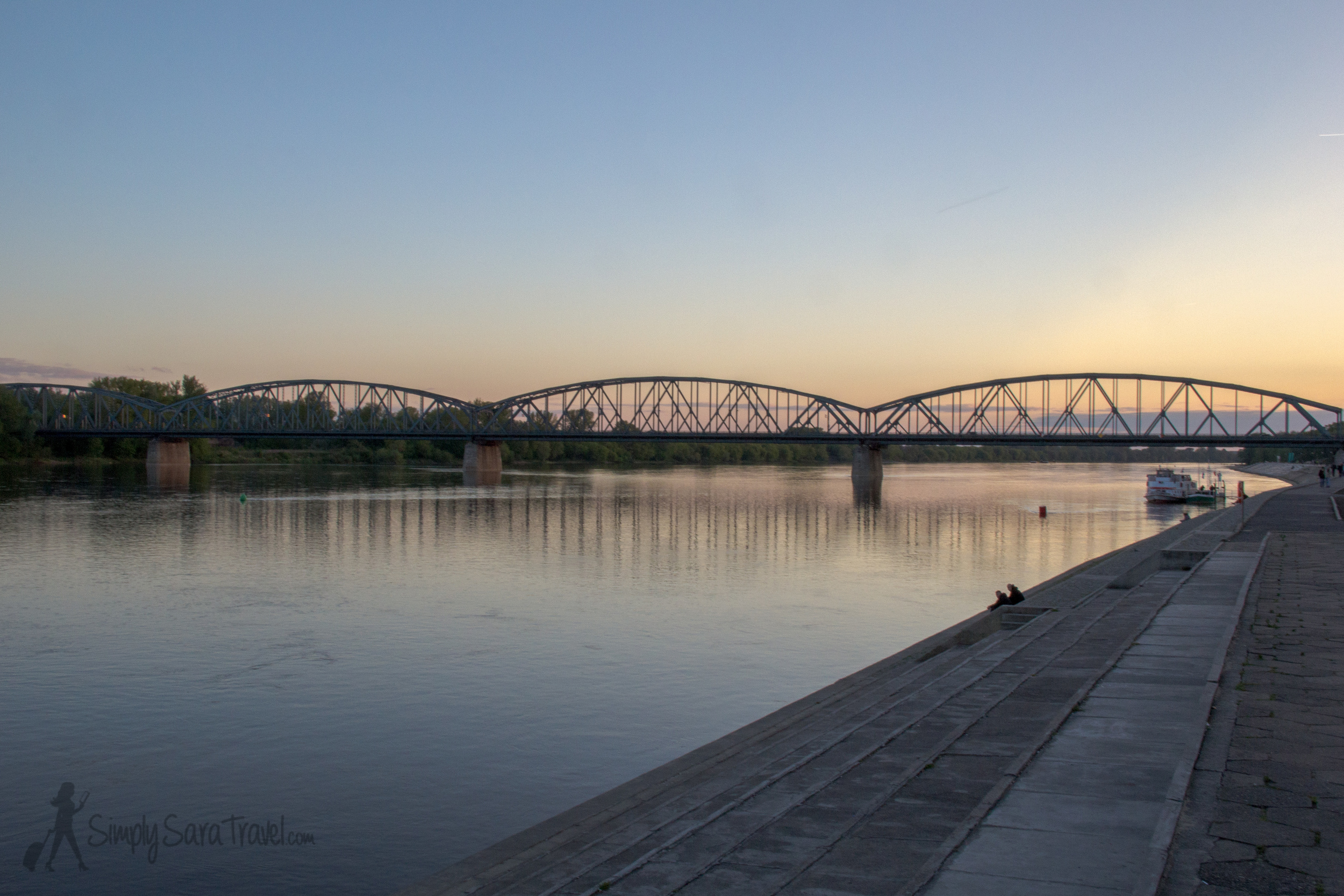 Sunset along theVistula River,Toruń