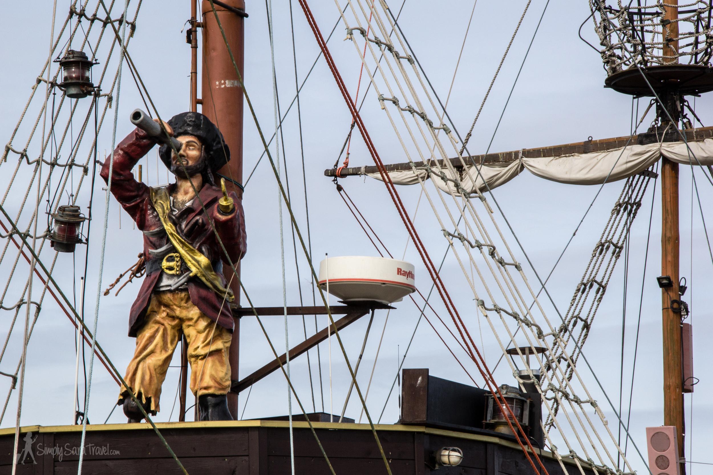 Pirate ship in Sopot, Poland