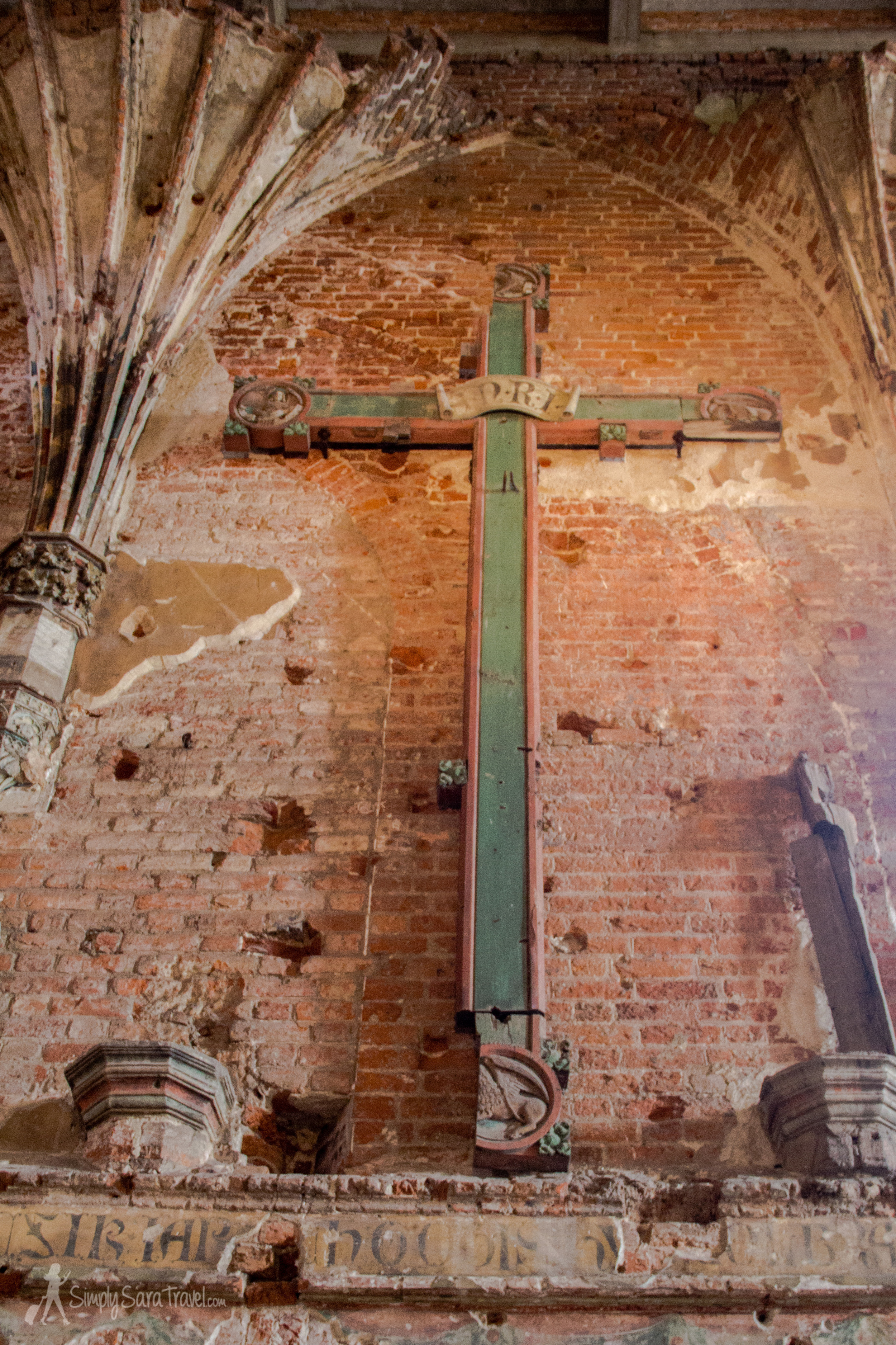 Cross inside St. Mary's Church, Malbork Castle, Poland