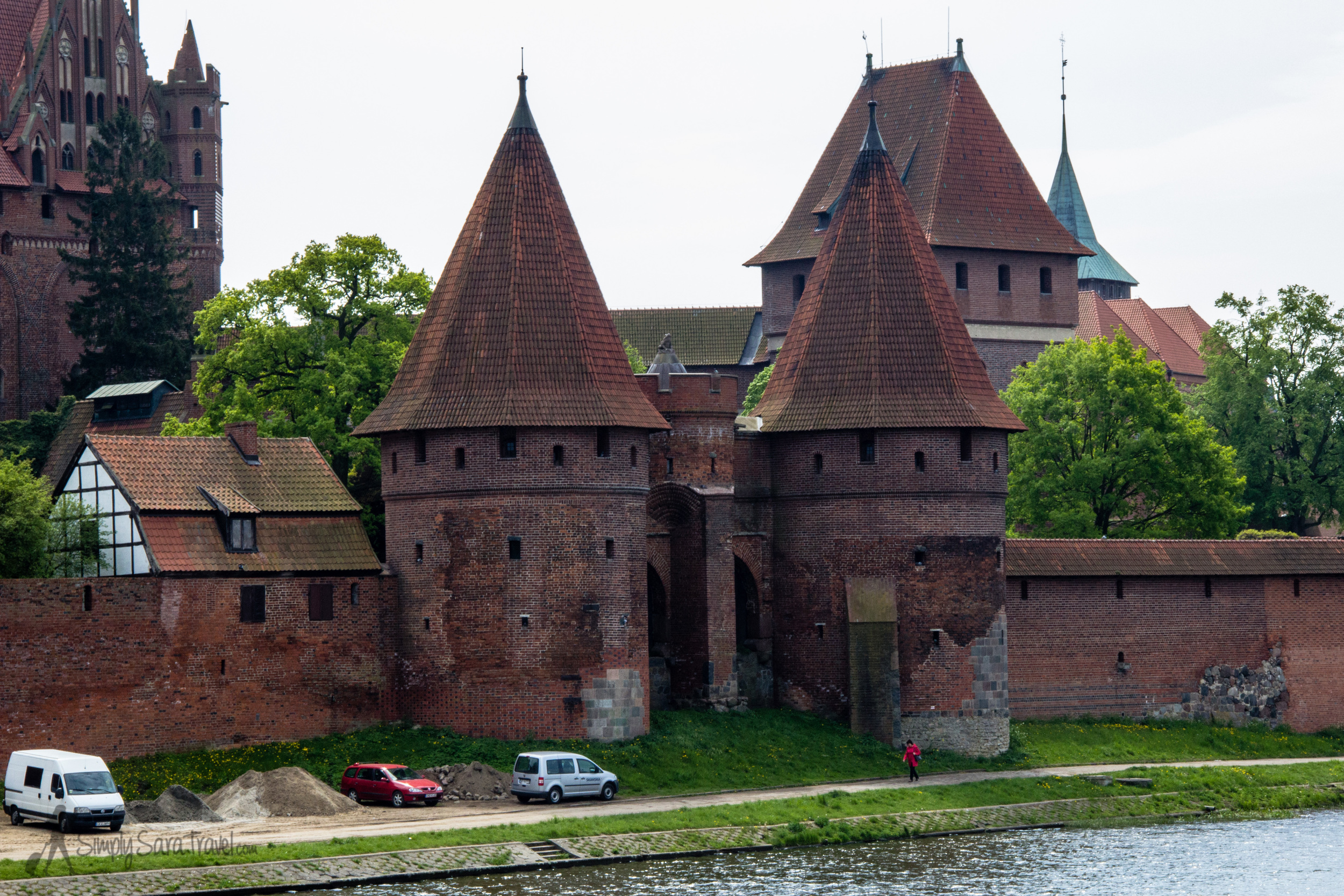 The turrets of Malbork Castle, Poland
