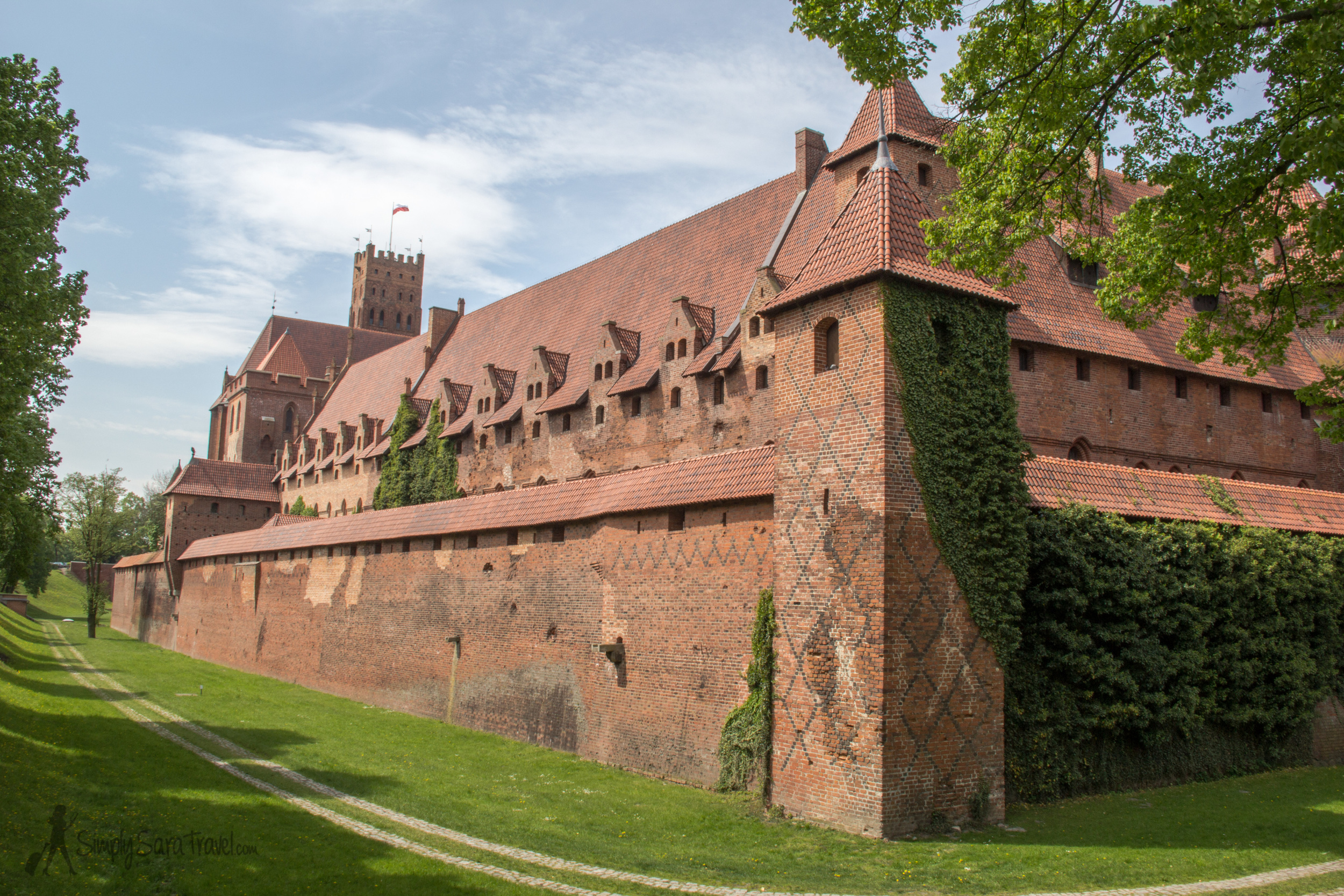 So much brick on the exterior of Malbork Castle, Poland