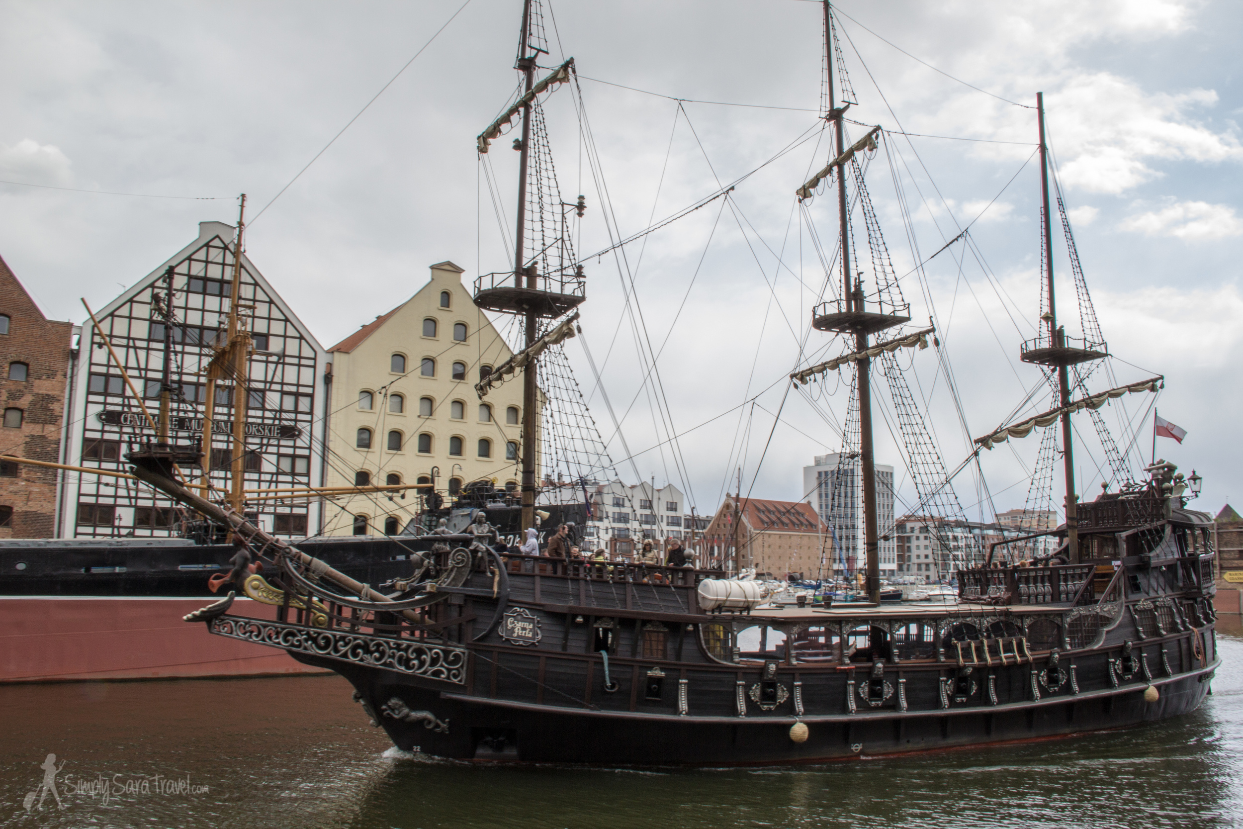 Pirate boat in Gdańsk, Poland