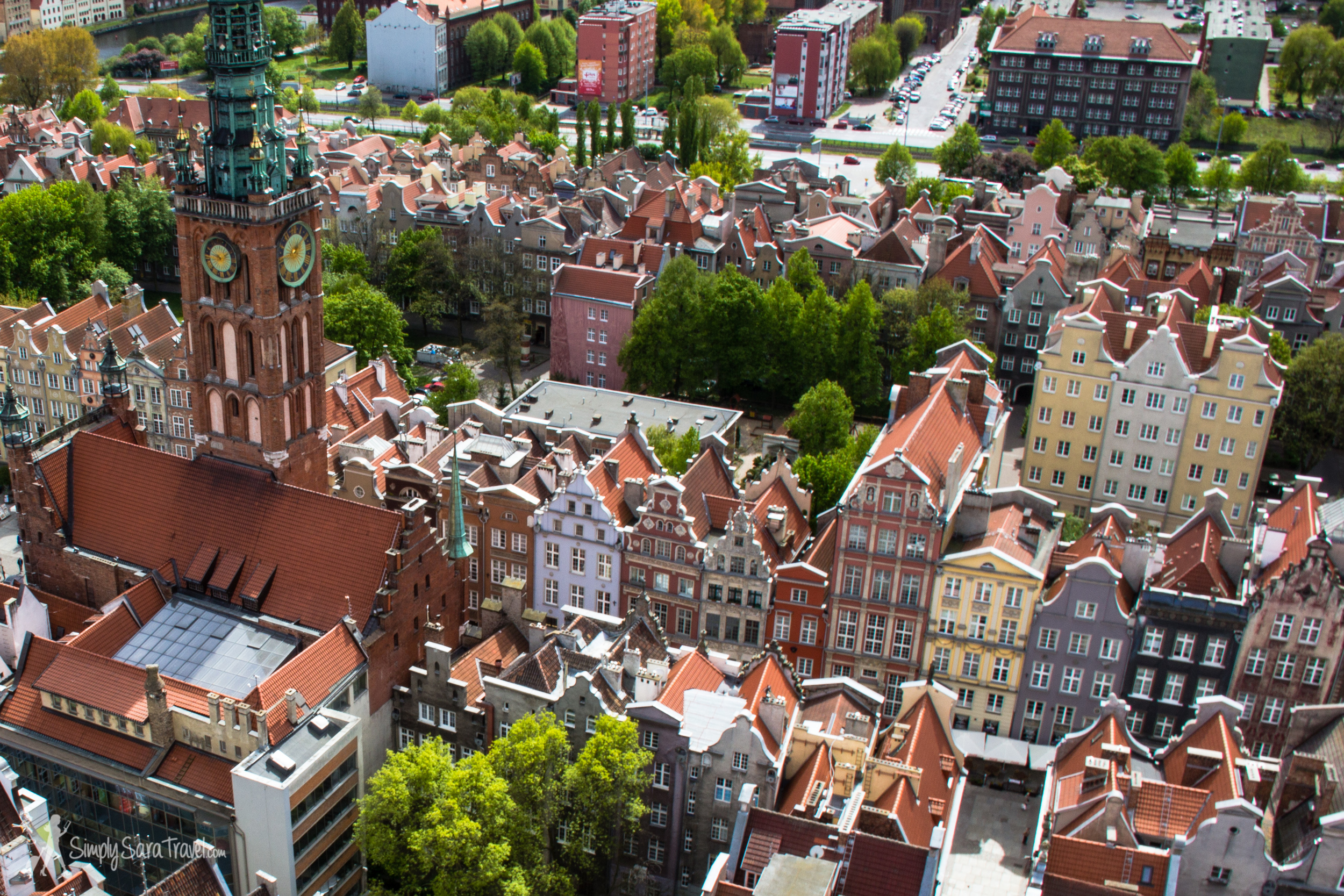 The tower of St. Mary's Church offers some pretty views of Gdańsk!