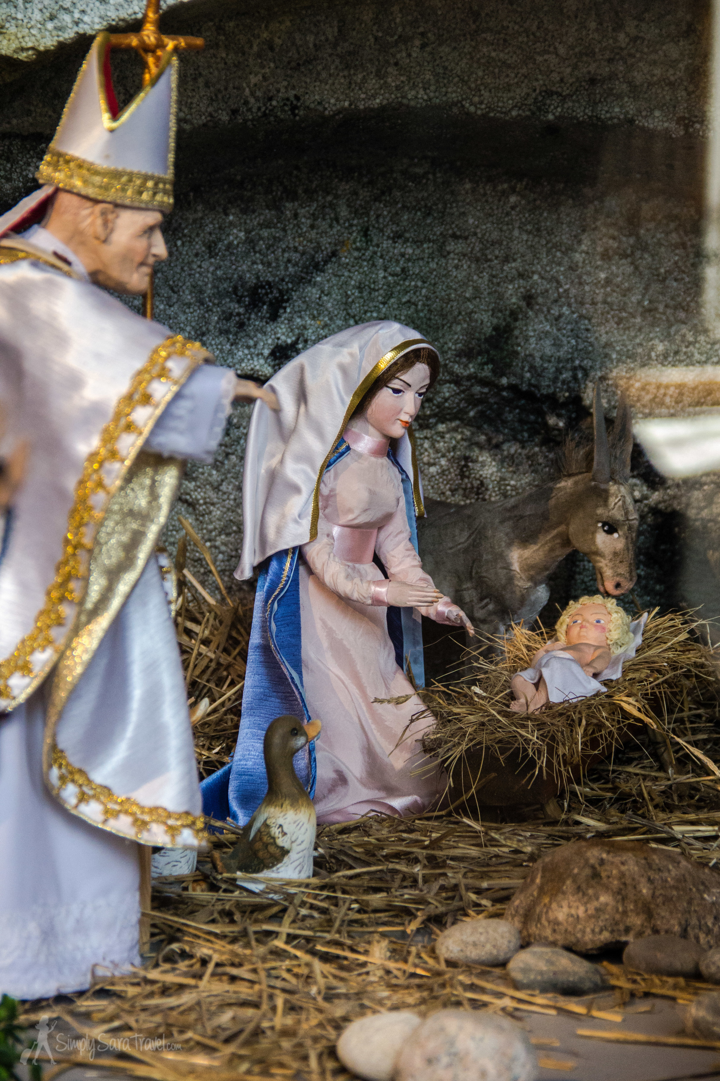 Pope John Paul II at the manger scene at the Church of the Holy Trinity in Gdańsk. I'm telling you, he shows up everywhere in Poland!