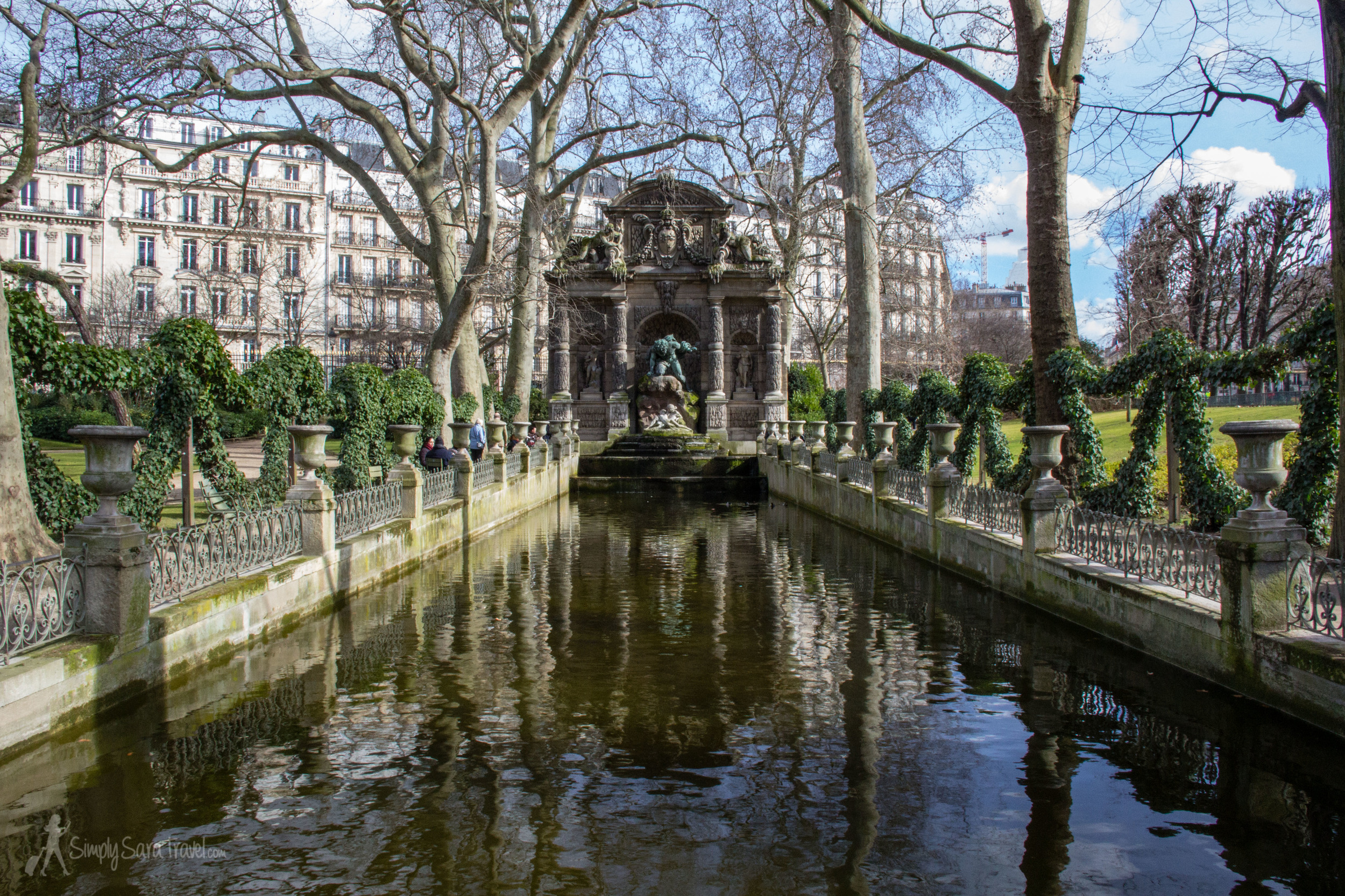 February at the Medici Fountain in the Jardin du Luxembourg
