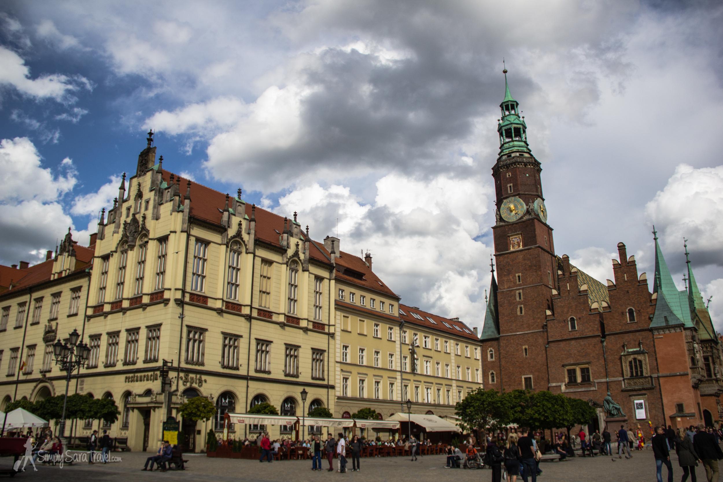 Market Square (Rynek) of Wroclaw, Poland