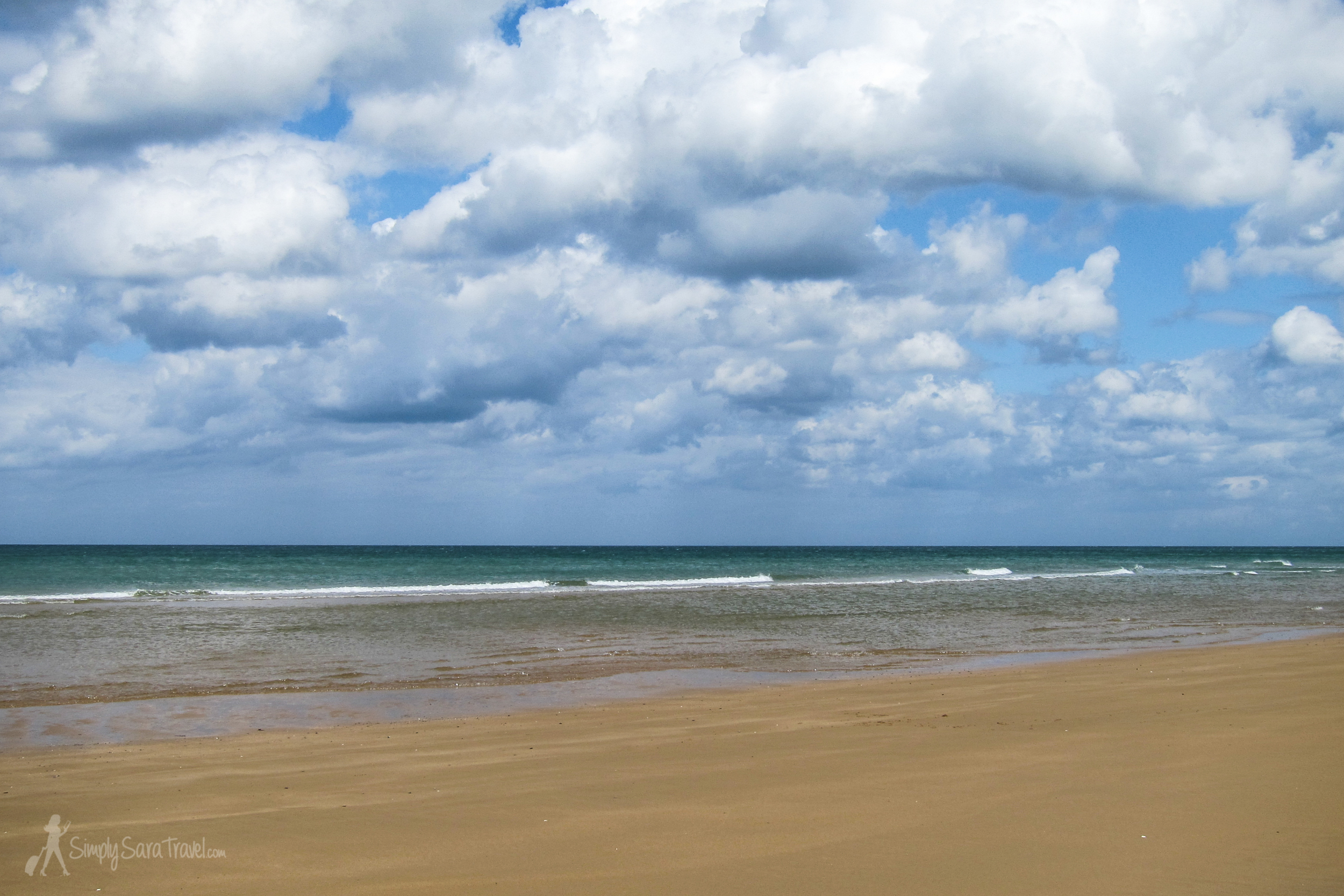 This is Omaha beach, one of the D-Day beaches. It was odd to us to think that people still sunbathe and swim here, but as our guide pointed out, there have been so many conflicts on European soil that it would be impossible to setaside land just because of its significance in a war. On a day like the one we had in June, only plaques, memorials, and our tour guide's stories reminded us of the grim past of this area.