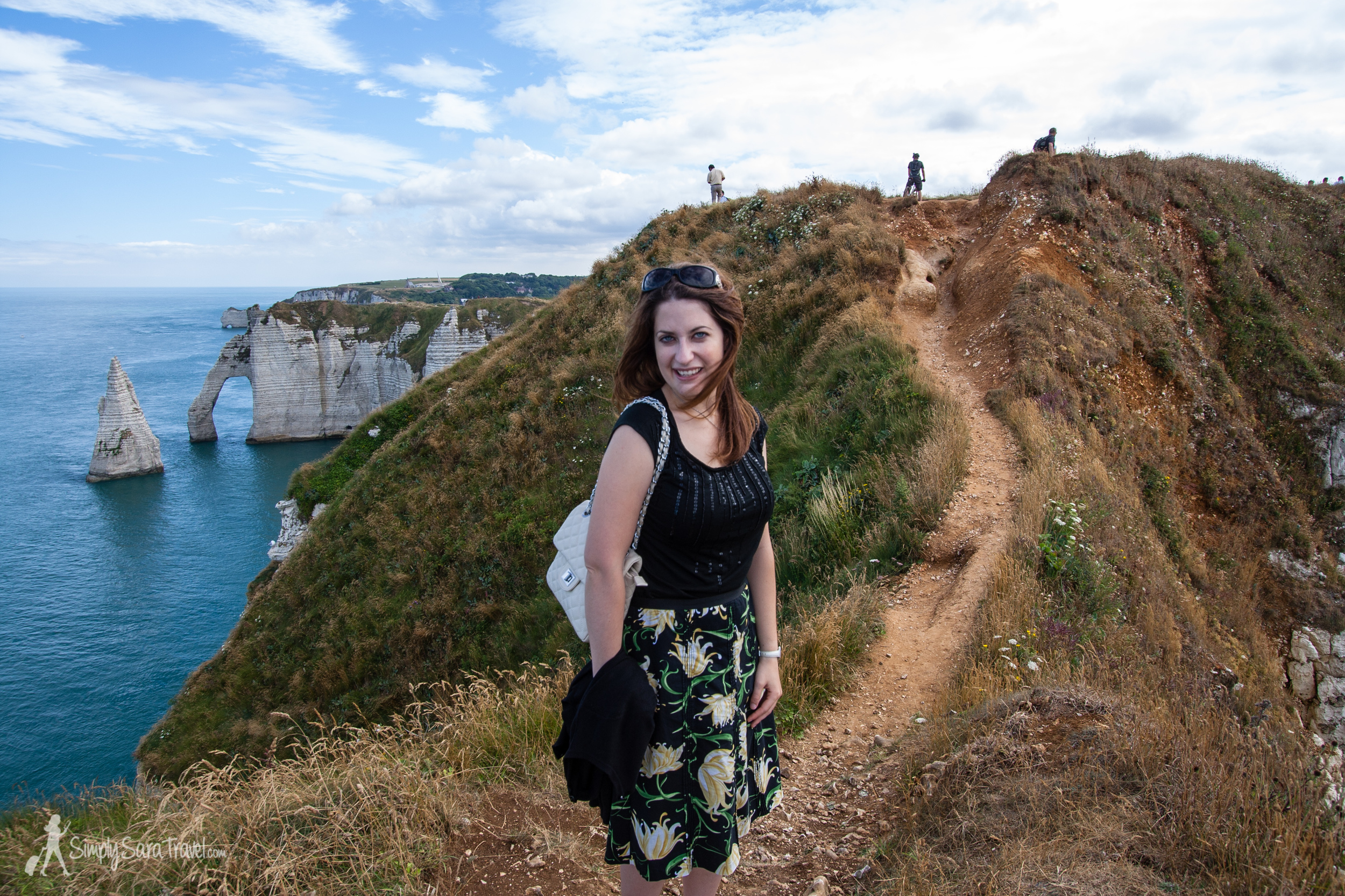 Walking along the cliffs on a warm July afternoon
