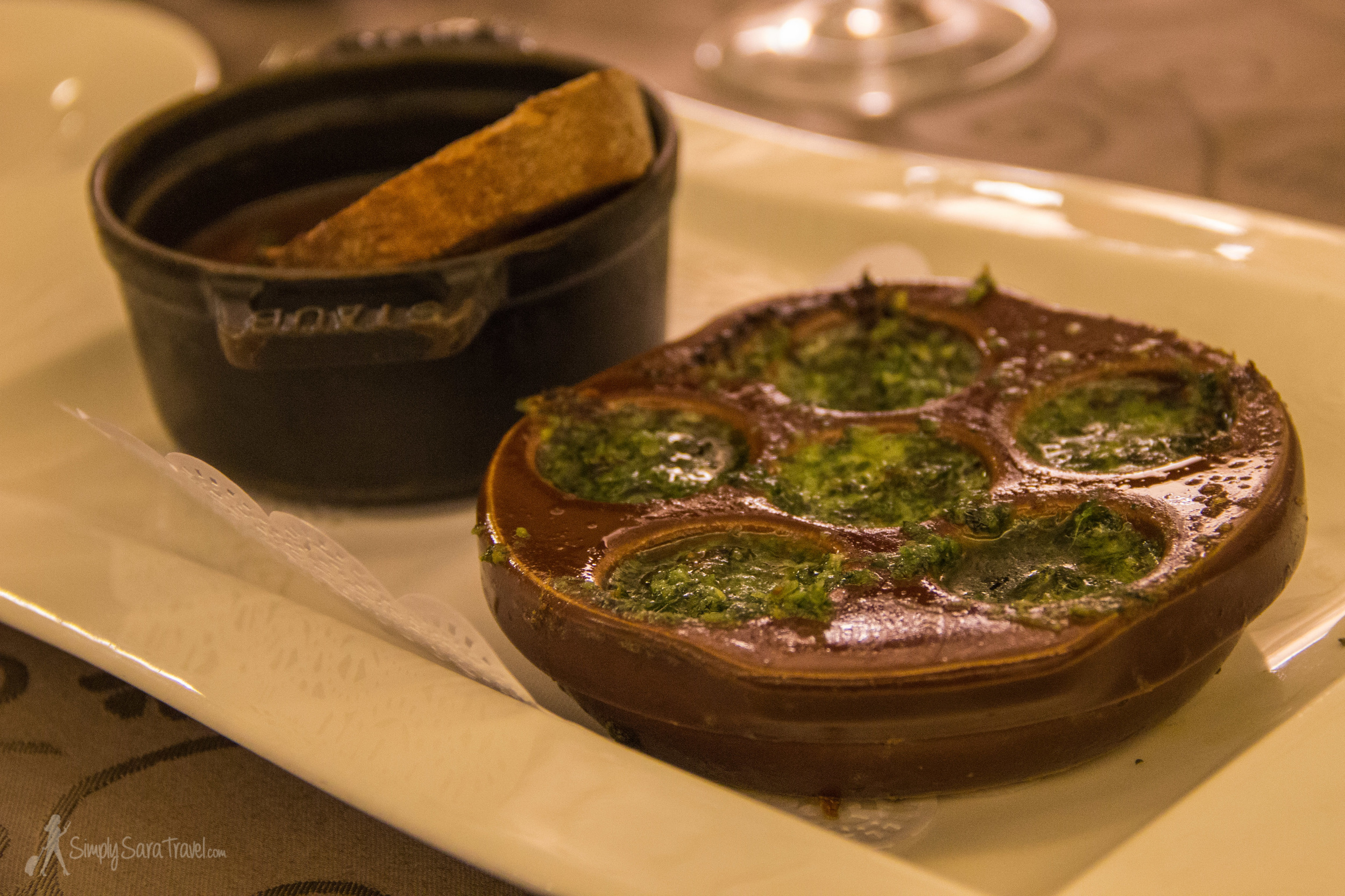These snails might not have been the highlight of the night for our birthday guest, but that sauce they're served in is an universal crowd-pleaser! (Hint - lots of butter and garlic involved!)