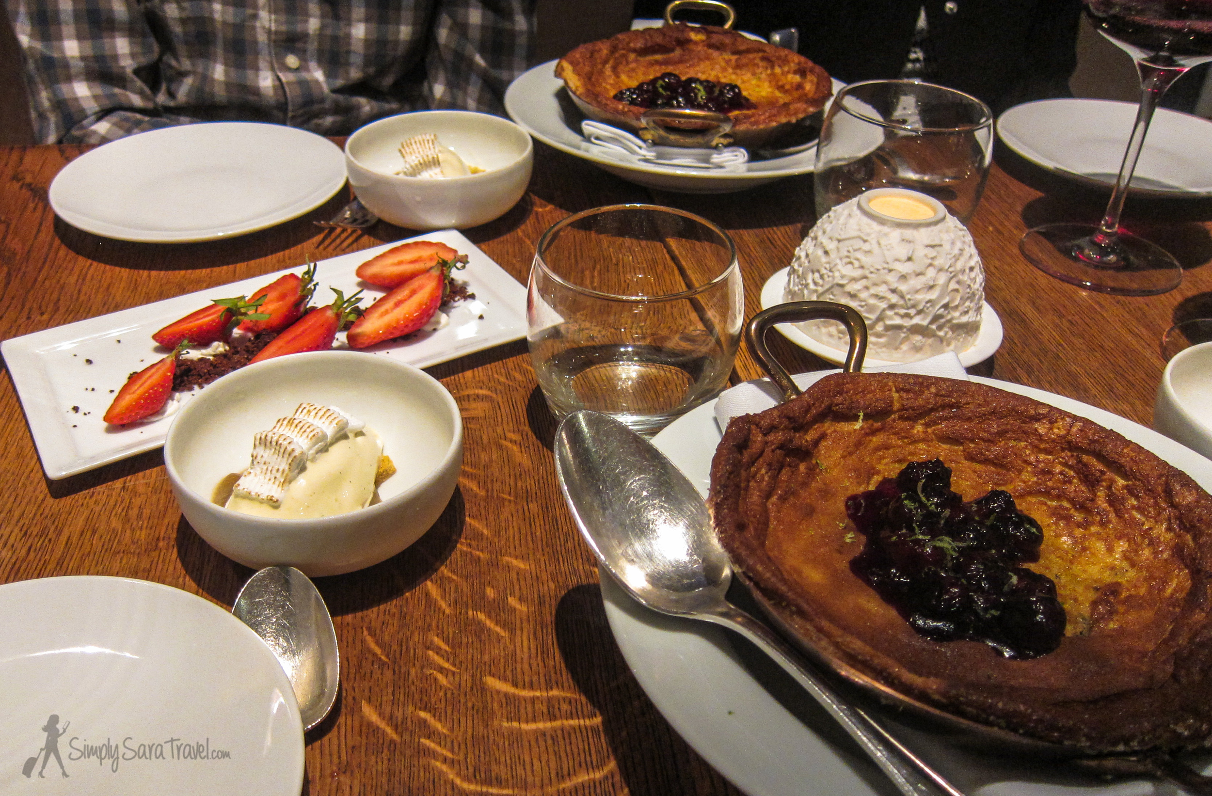 There was so much that came before thisthat I don't know how we plowed through three desserts - it was that good!