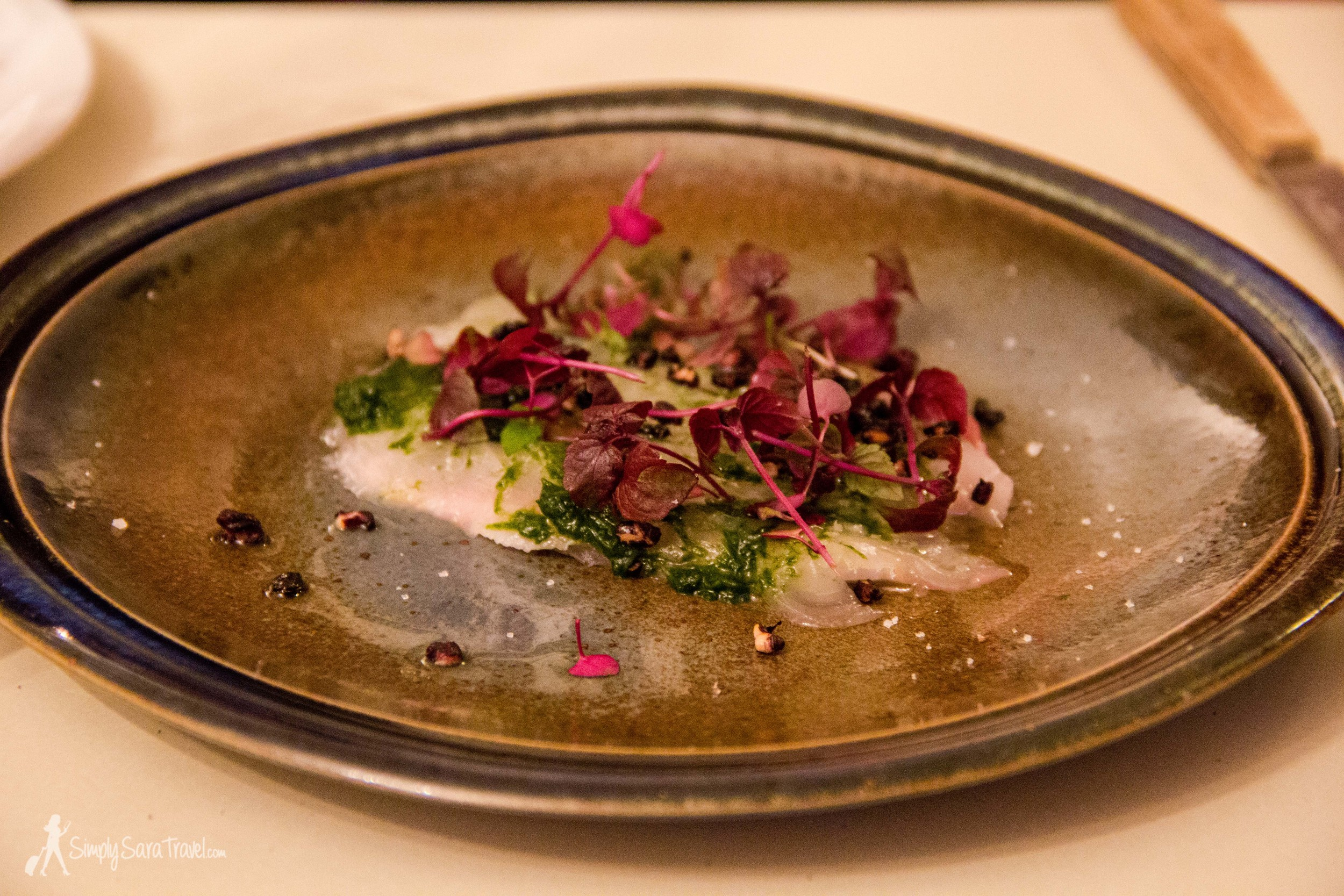 One of our many small plates - a fish dish