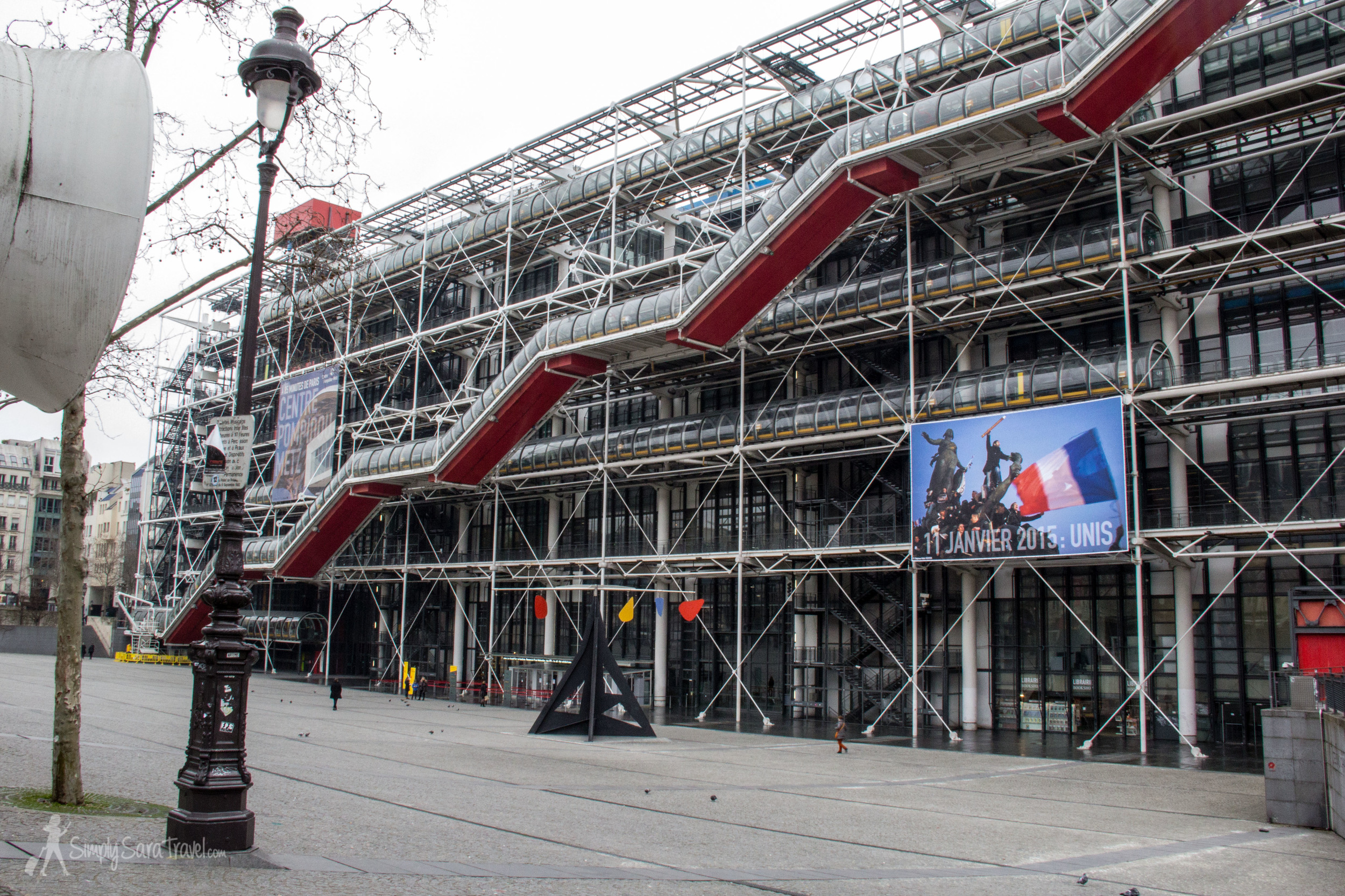 I've looked at the controversial looking Centre Pompidou countless times, admiring its quirky appearance. (It created quite a stir when it was built - if you have noticed, it sticks out a bit from the rest of the city's look.) I've passed by numerous times, but I never knew what the colors symbolized. We learned that the red tubes, which you can see here (it's where the escalators are) are red to reference their role as the blood of the building - the people are the life flow. You'll have to go on the tour to find out what the rest of the colors mean though!