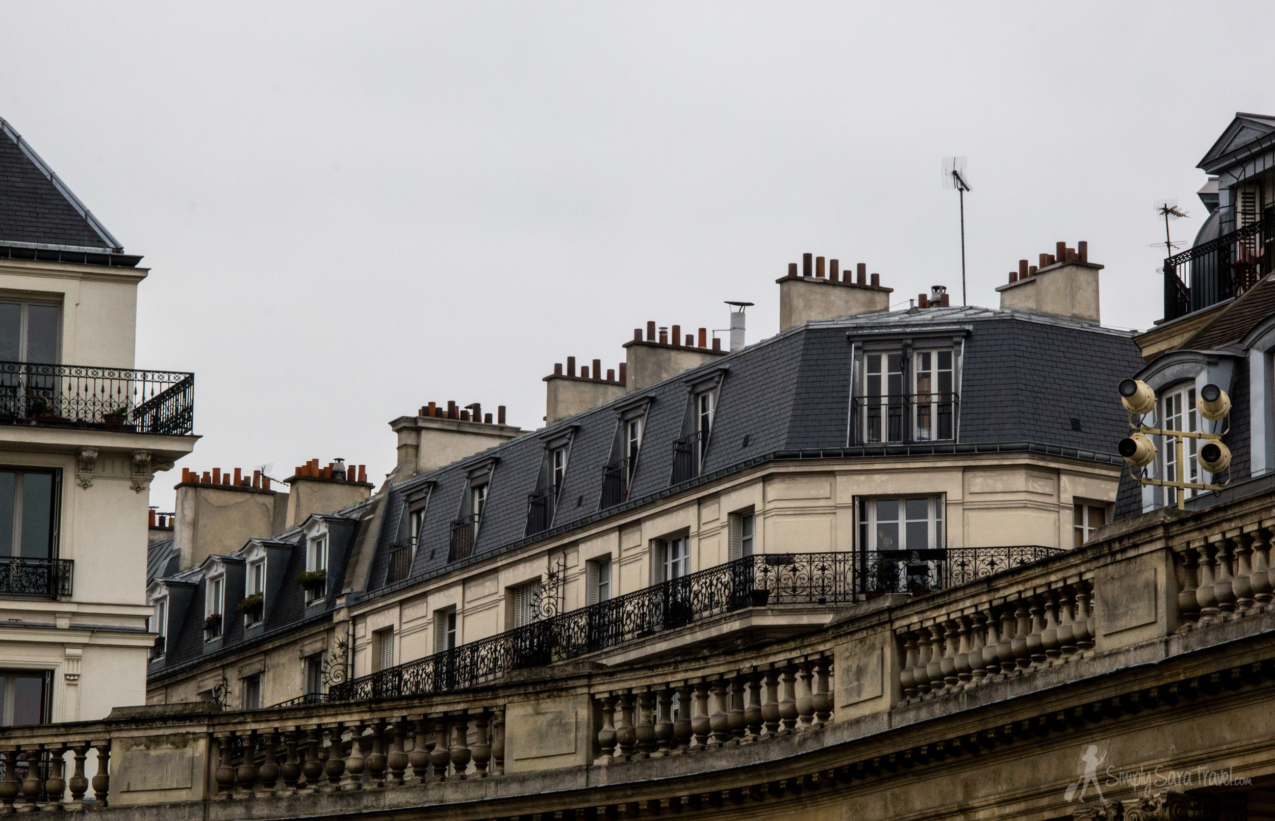 Typical Parisian rooftops as seen from the National Archives