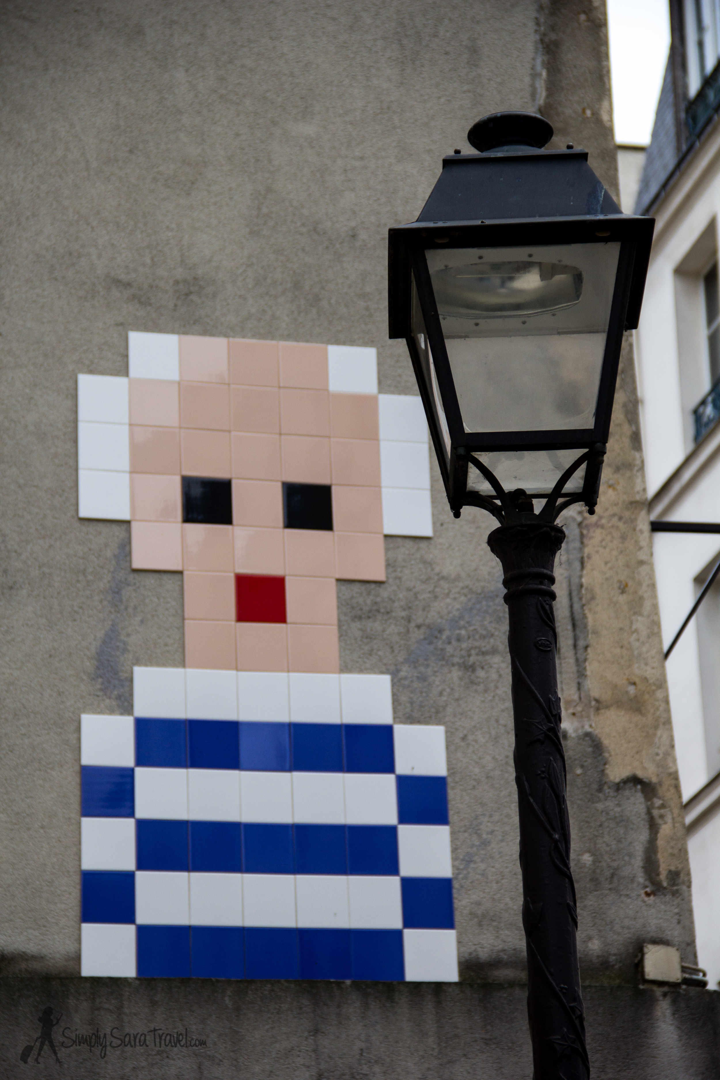 When you see the Picasso street art, then you know you are close to the museum that houses his work in Paris...