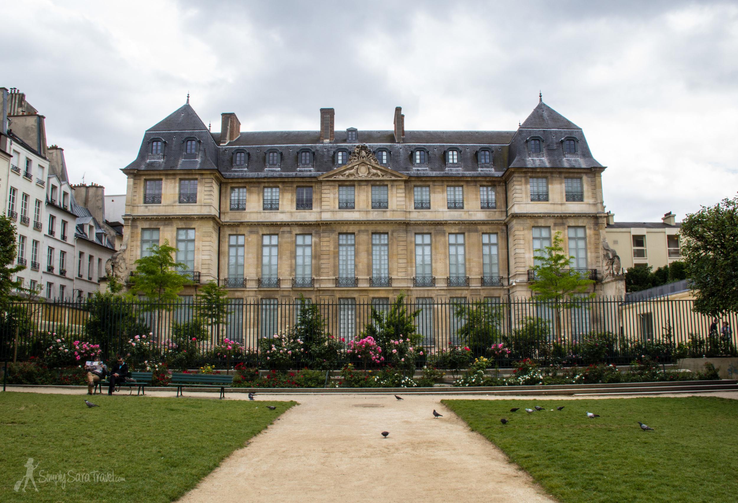The back of theHôtel Salé in the Marais