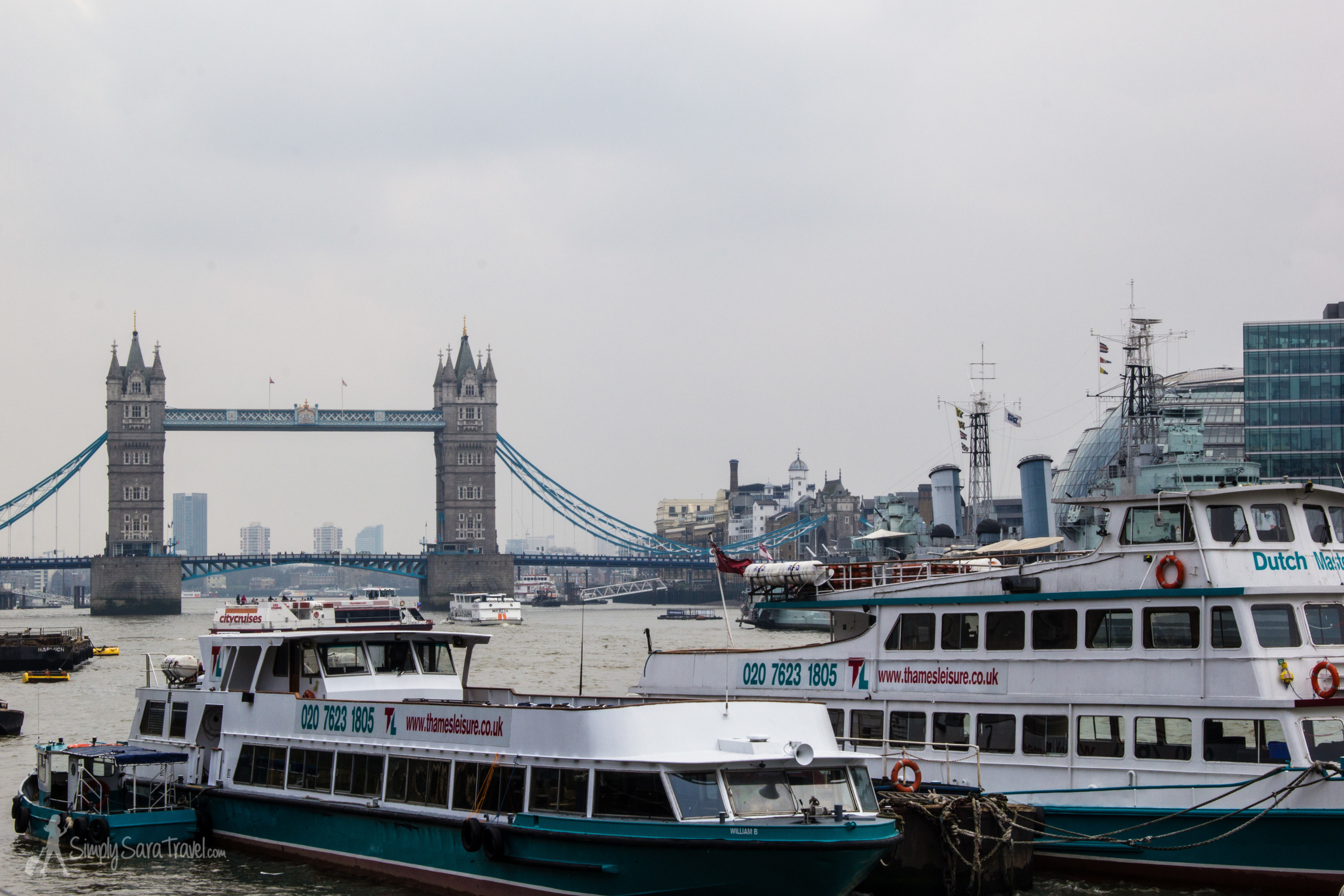 Walking along the Thames is an essential thing to do in London. Be sure to catch a glimpse of the beautiful Tower Bridge while at the river!