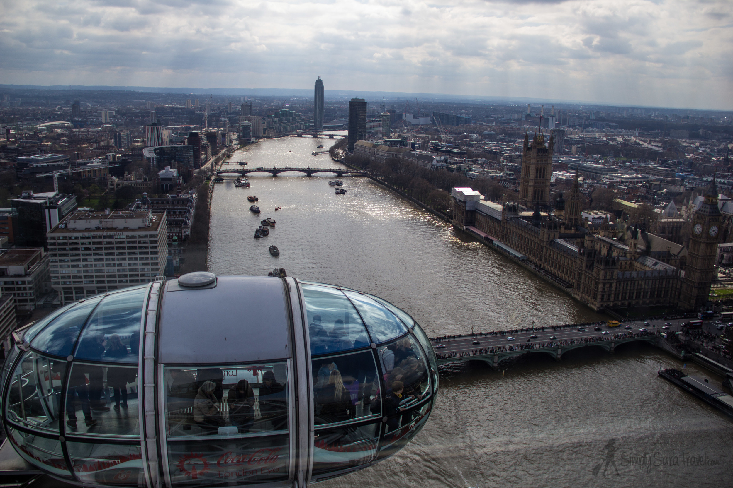 The view from the London Eye...and all through August, I'll be showing London through  my  eyes!