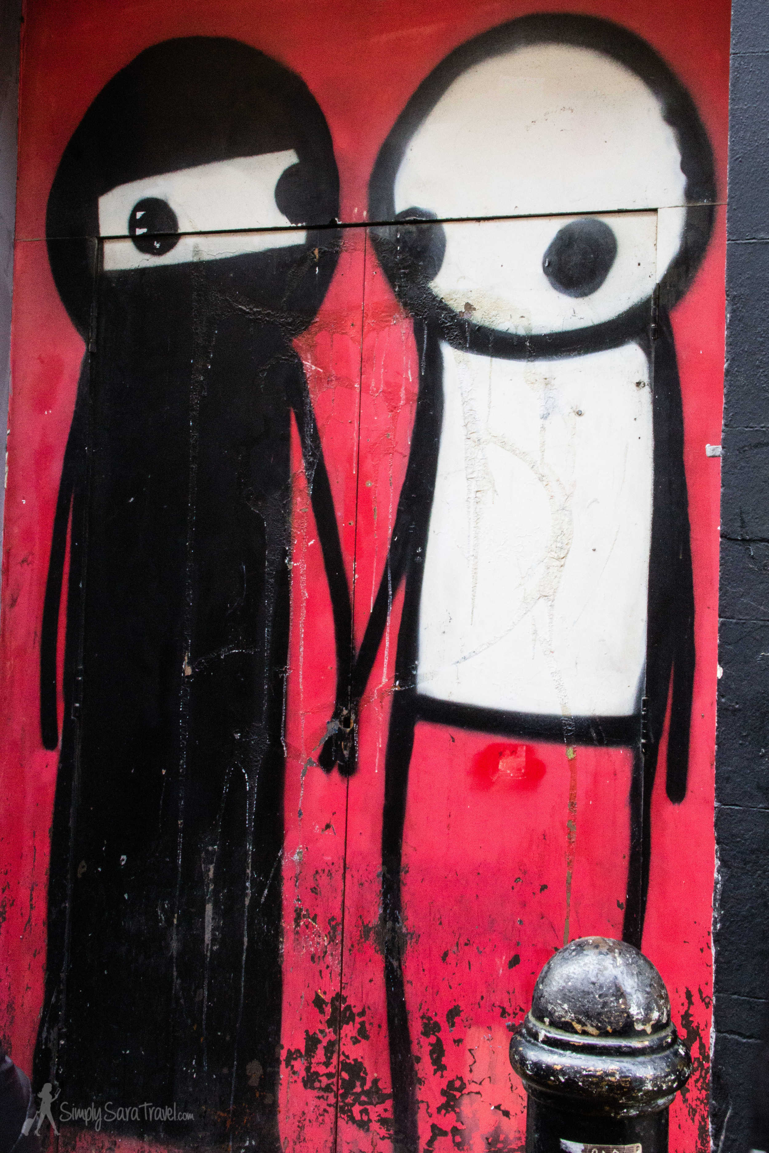 One of Stik's works in Shoreditch, London