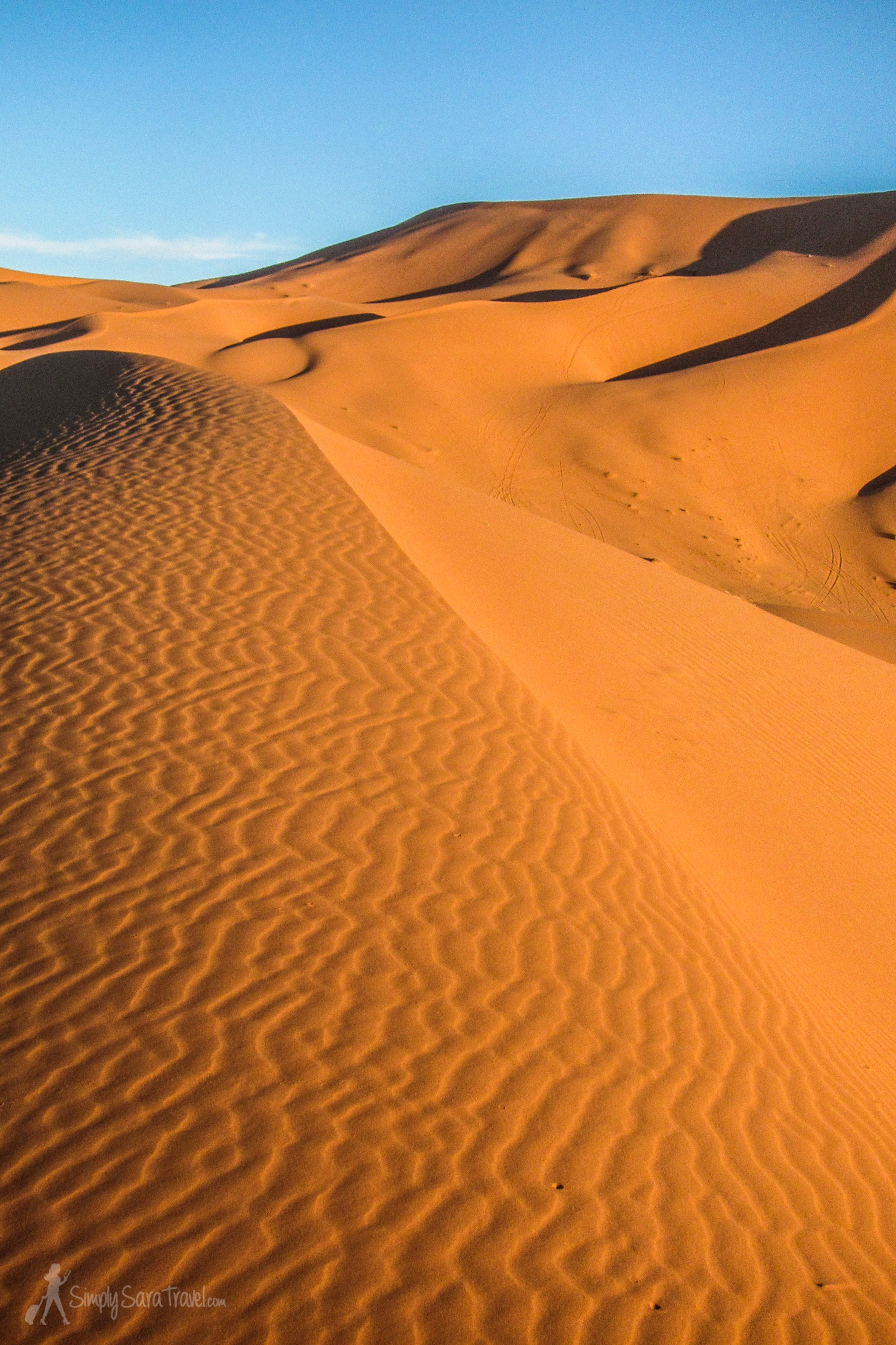 It feels crazy, looking at this photo, to suggest that climbing these sand dunes at night offered even more breathtaking scenes to behold...