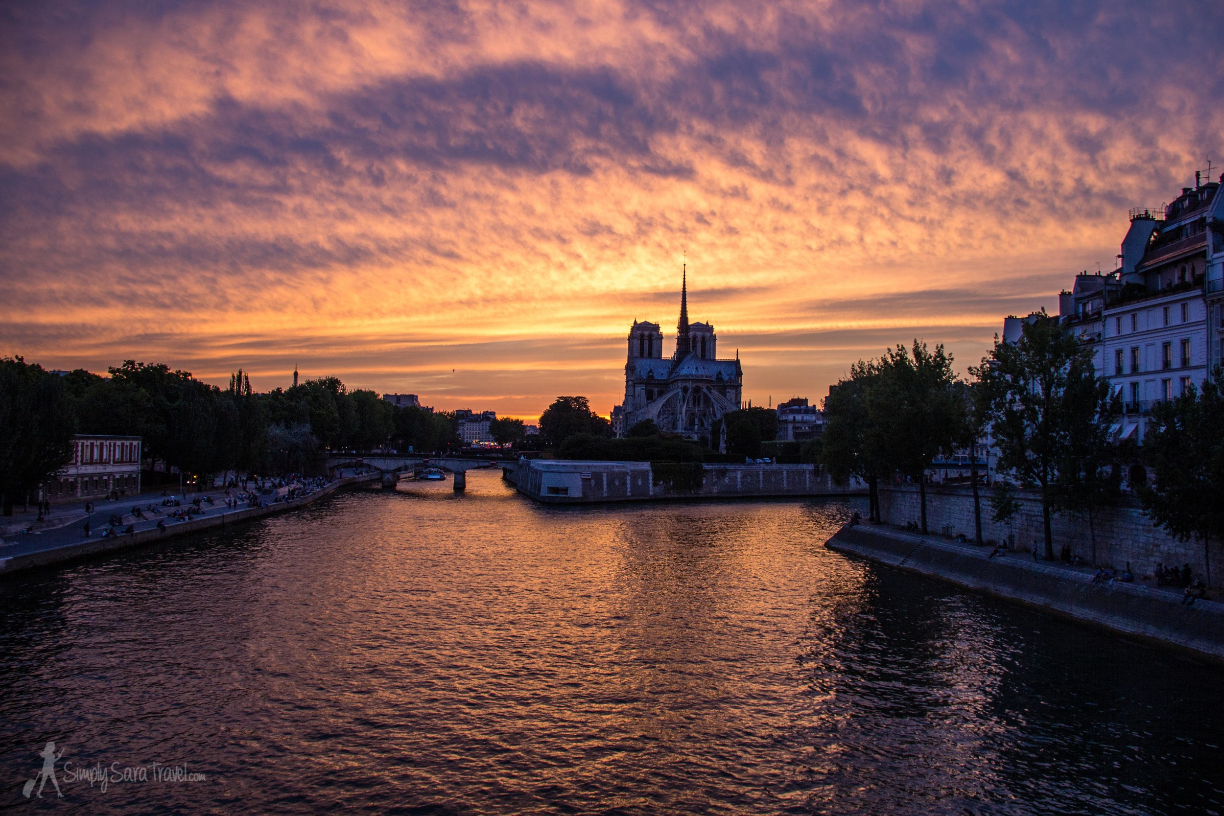 On our first night back in Paris, we were treated to this stunner of a sunset.