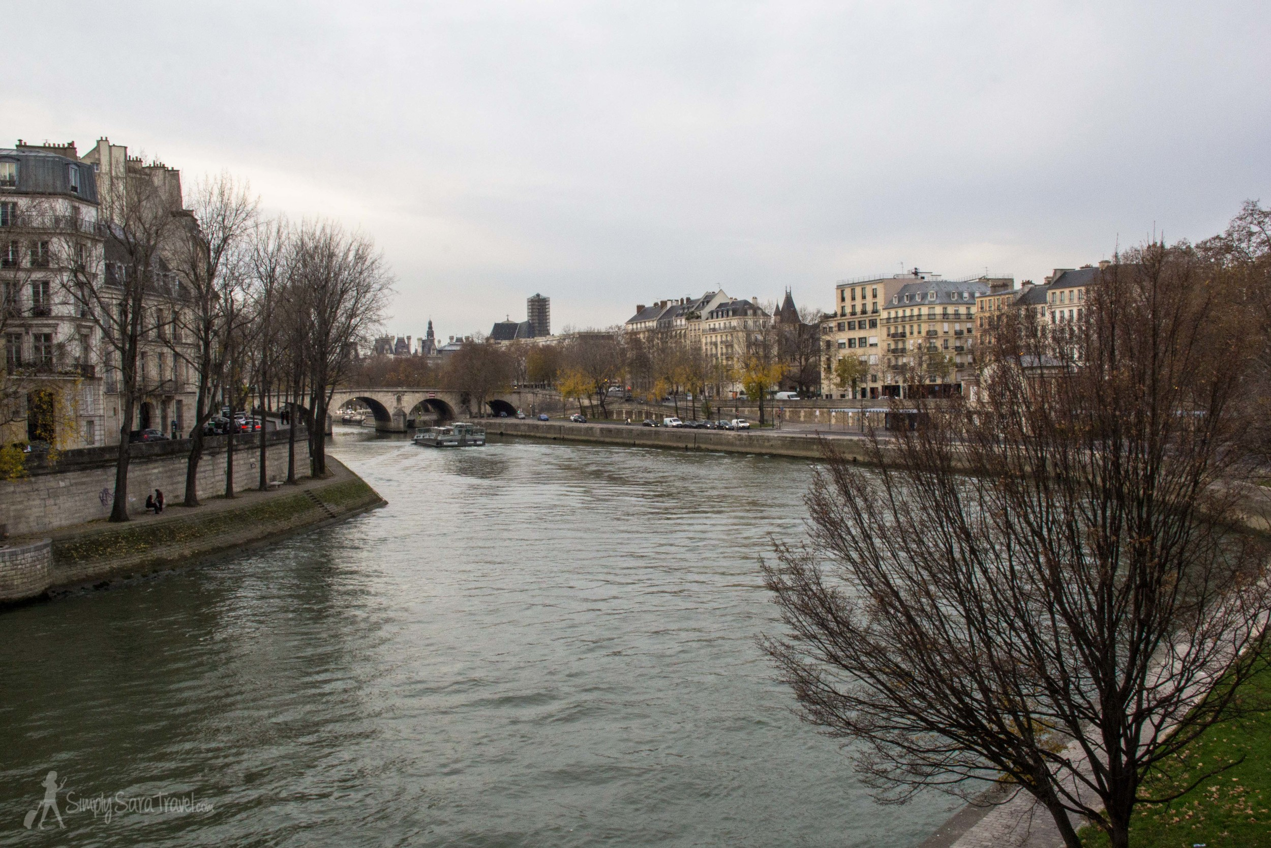 Winter along the Seine Paris, France