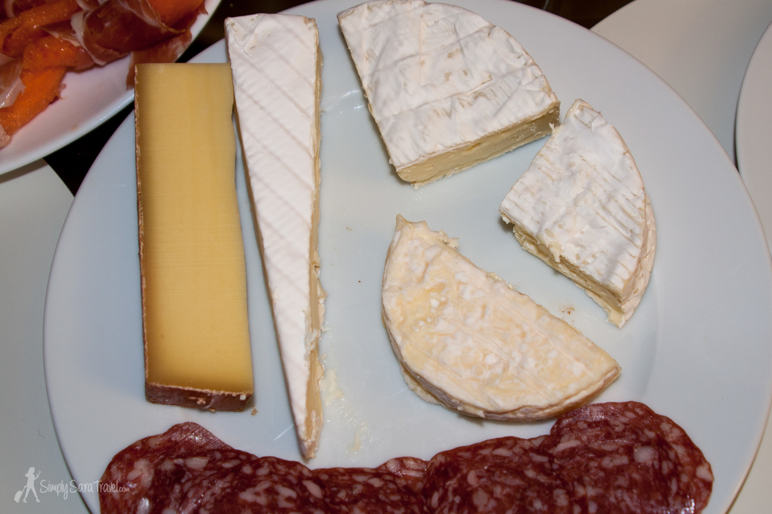 Exhibit B: This though, may be the best indication of my early days in France. My cheese plate looks like it is sufficient for one French person. We did have more on hand, but we couldn't imagine going through all the cheese on the plate in one night so we held off before replenishing the supply.