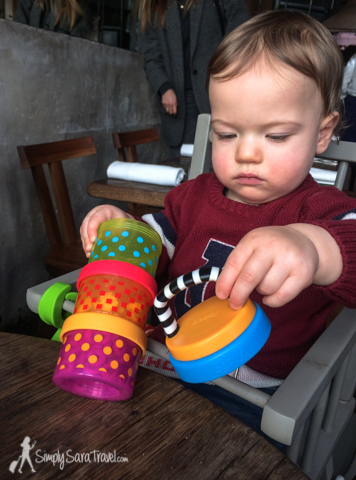 Here's J lunching at Septime, one of Paris' hot restaurants that is difficult to secure a reservation. His stack of puffs kept him happy while we enjoyed a fancy meal out!