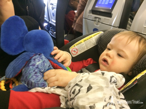 Everyone had their own seat and space on the long flight to Europe, which made a huge difference!