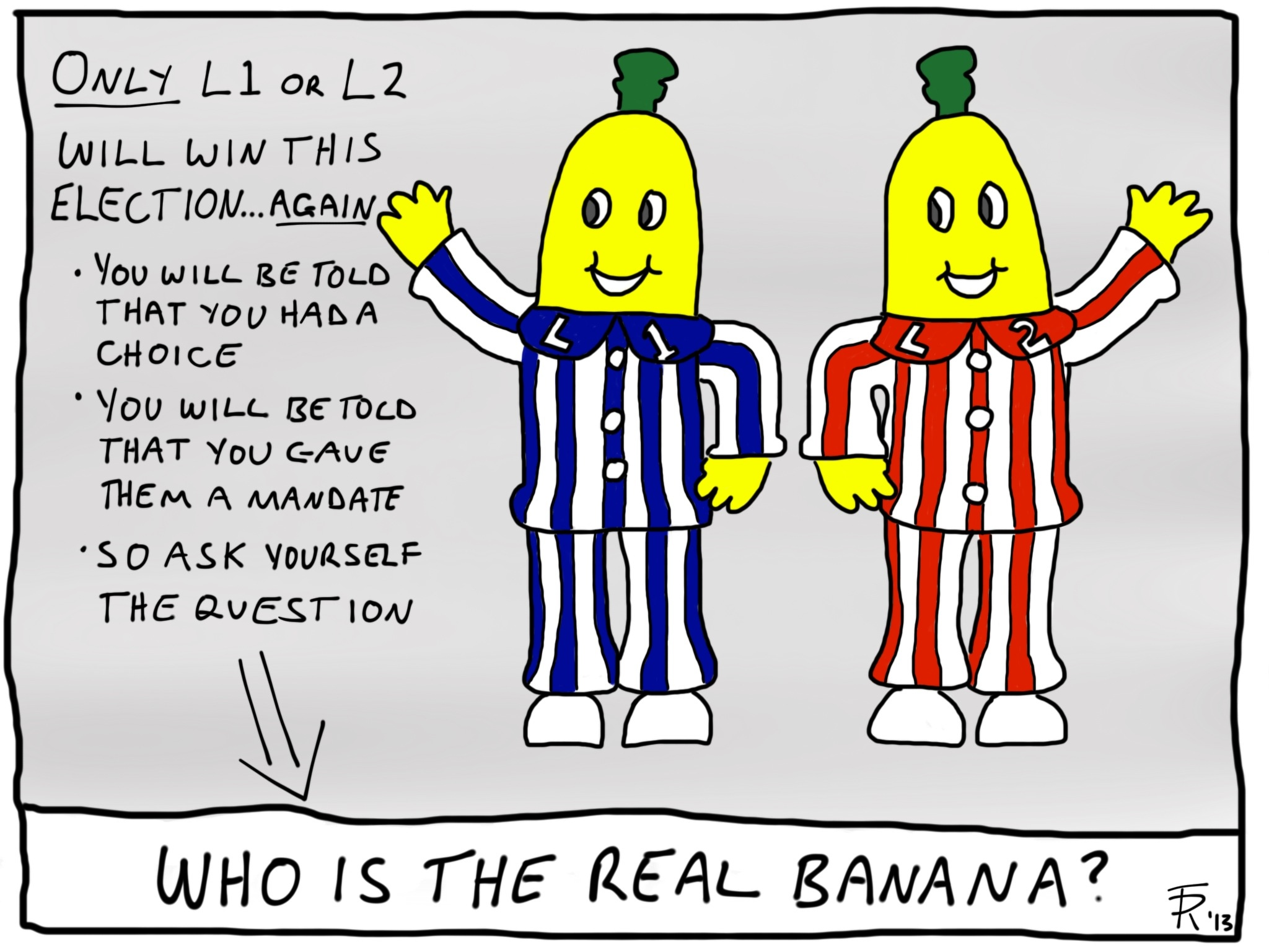 Who is the real banana.JPG