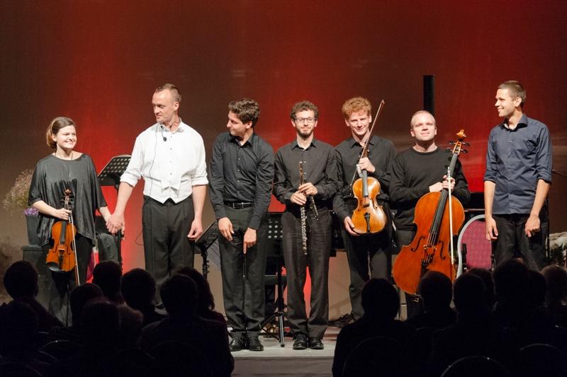 Au Festival de Davos 2012 après l'éxecution du Pierrot Lunaire de Arnold Shoenberg.