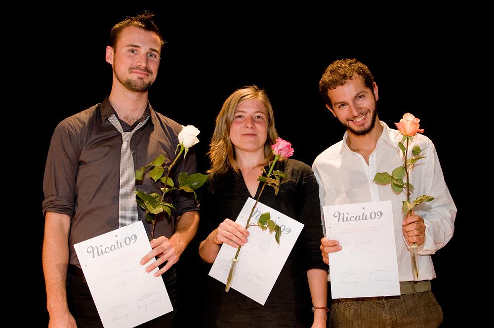 Avec Richard Haynes et Andrea Nagy lors de la rémise du prix d'interprétation de musique contemporaine Nicati 2009