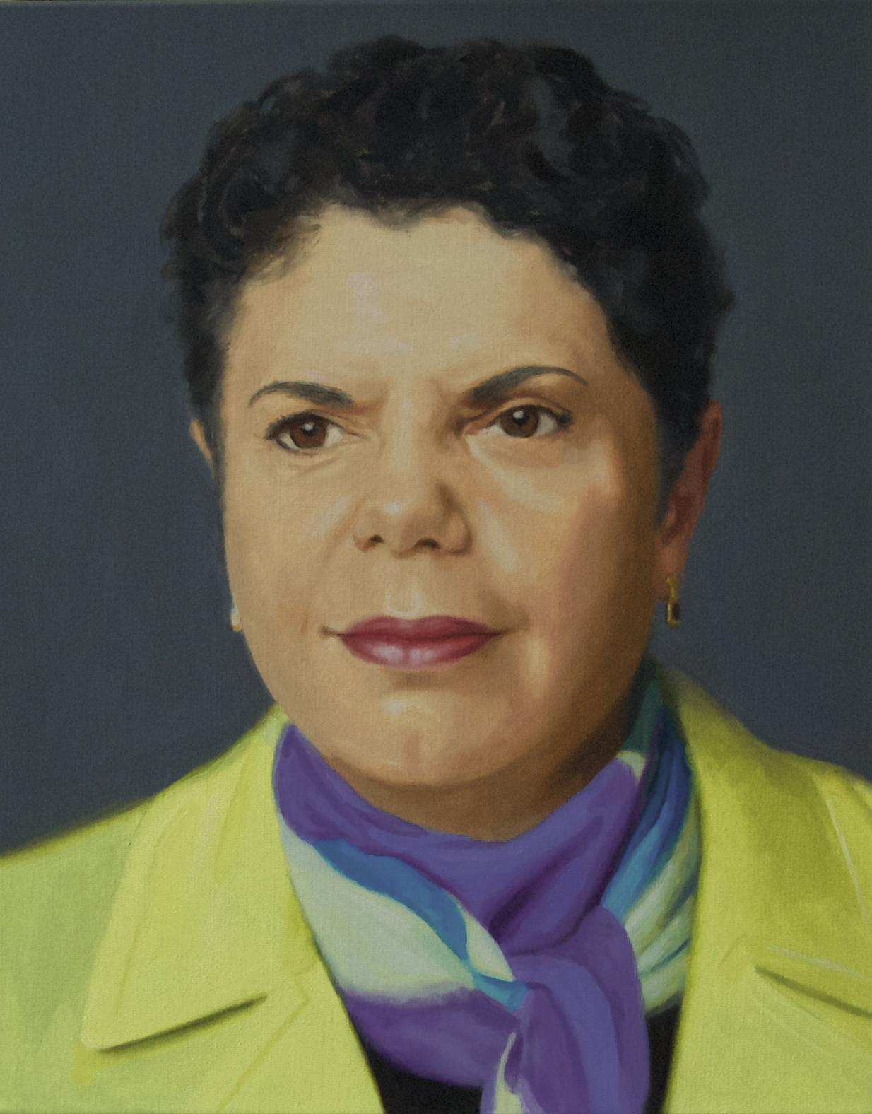 Richard Knafelc  Deborah Cheetham  2015 oil on linen 51 x 41 cm
