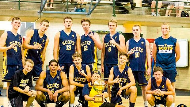The basketball team of Scots College, Sydney