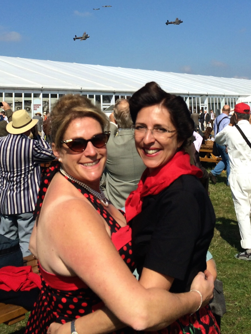 Goodwood Revival last weekend; no girls, it's the Lancasters I'm trying to catch.