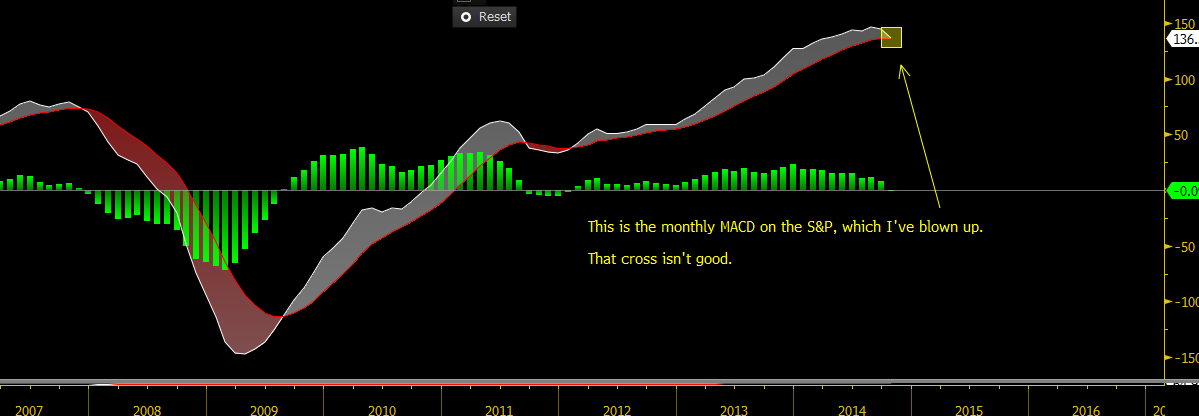 Monthly MACD on the S&P